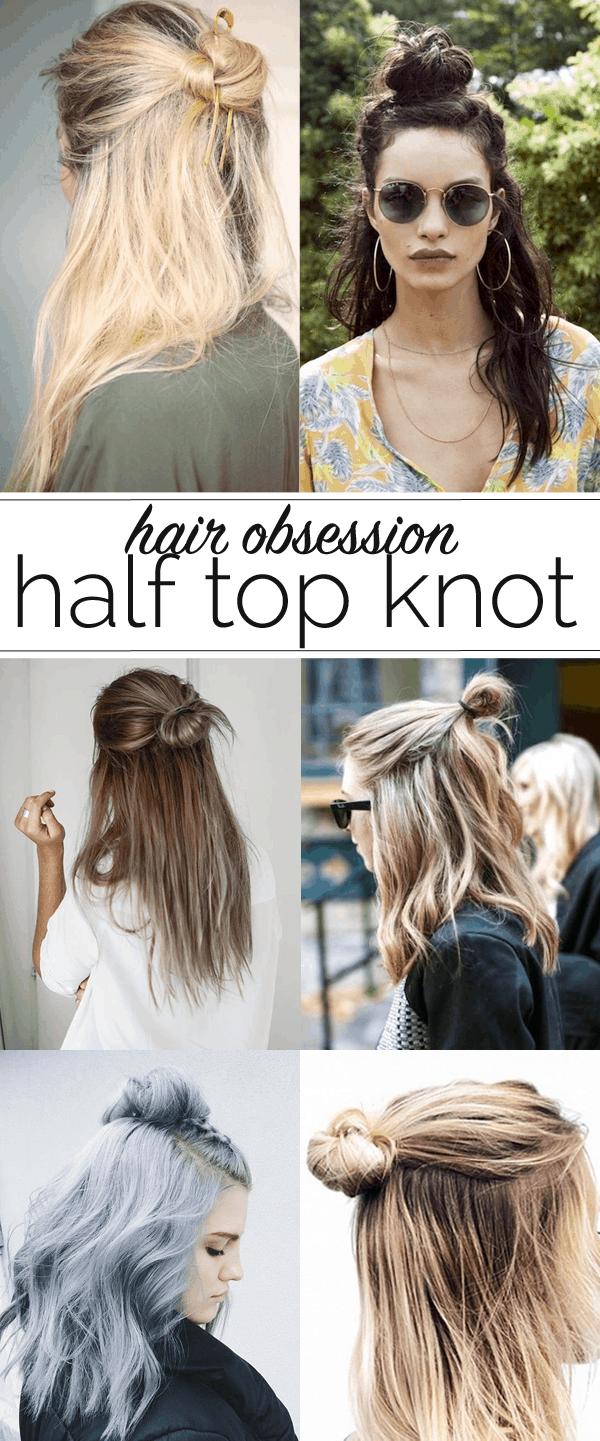 half top knot ideas for hair, half up hair ideas - My Style Vita @mystylevita