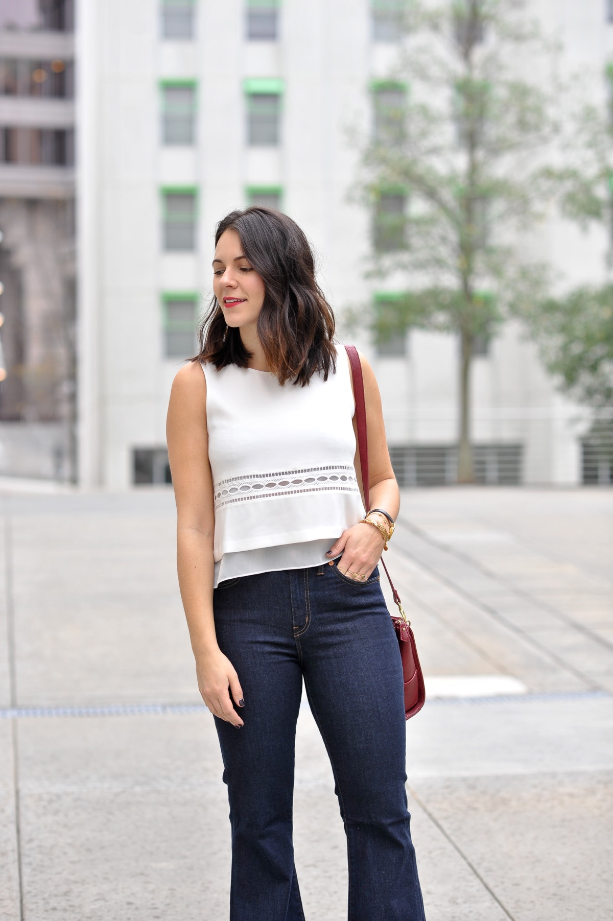 high rise jeans and crop top - @mystylevita