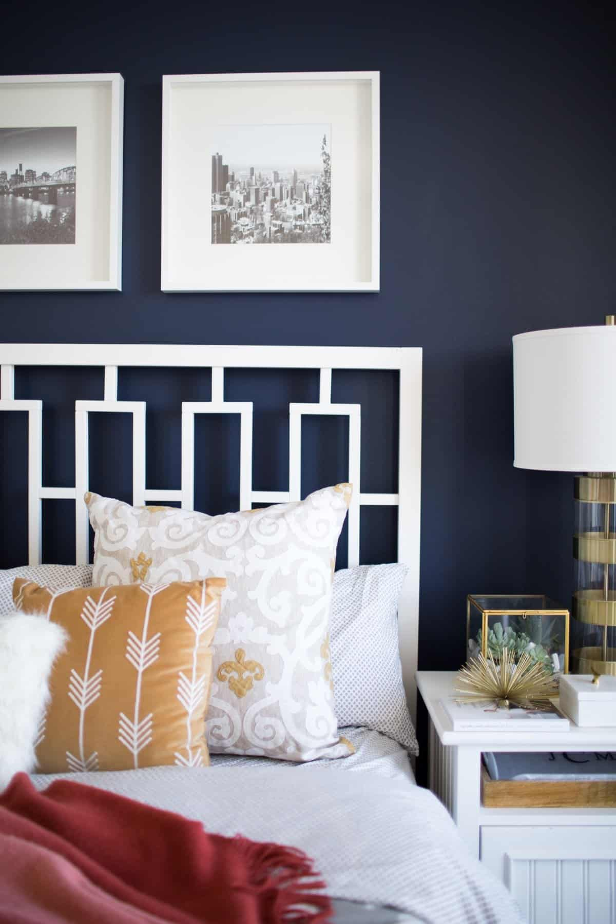 A Look Inside A Blogger S Navy And Mustard Bedroom My Style Vita