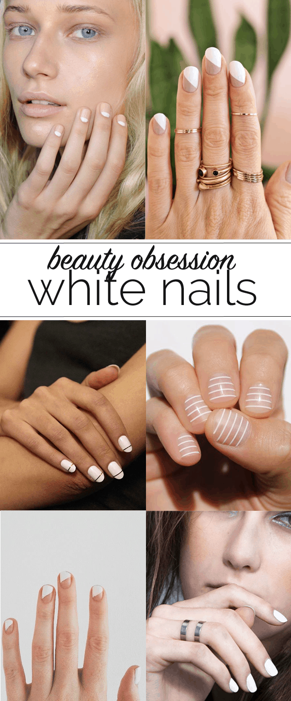 white nail polish ideas - @mystylevita