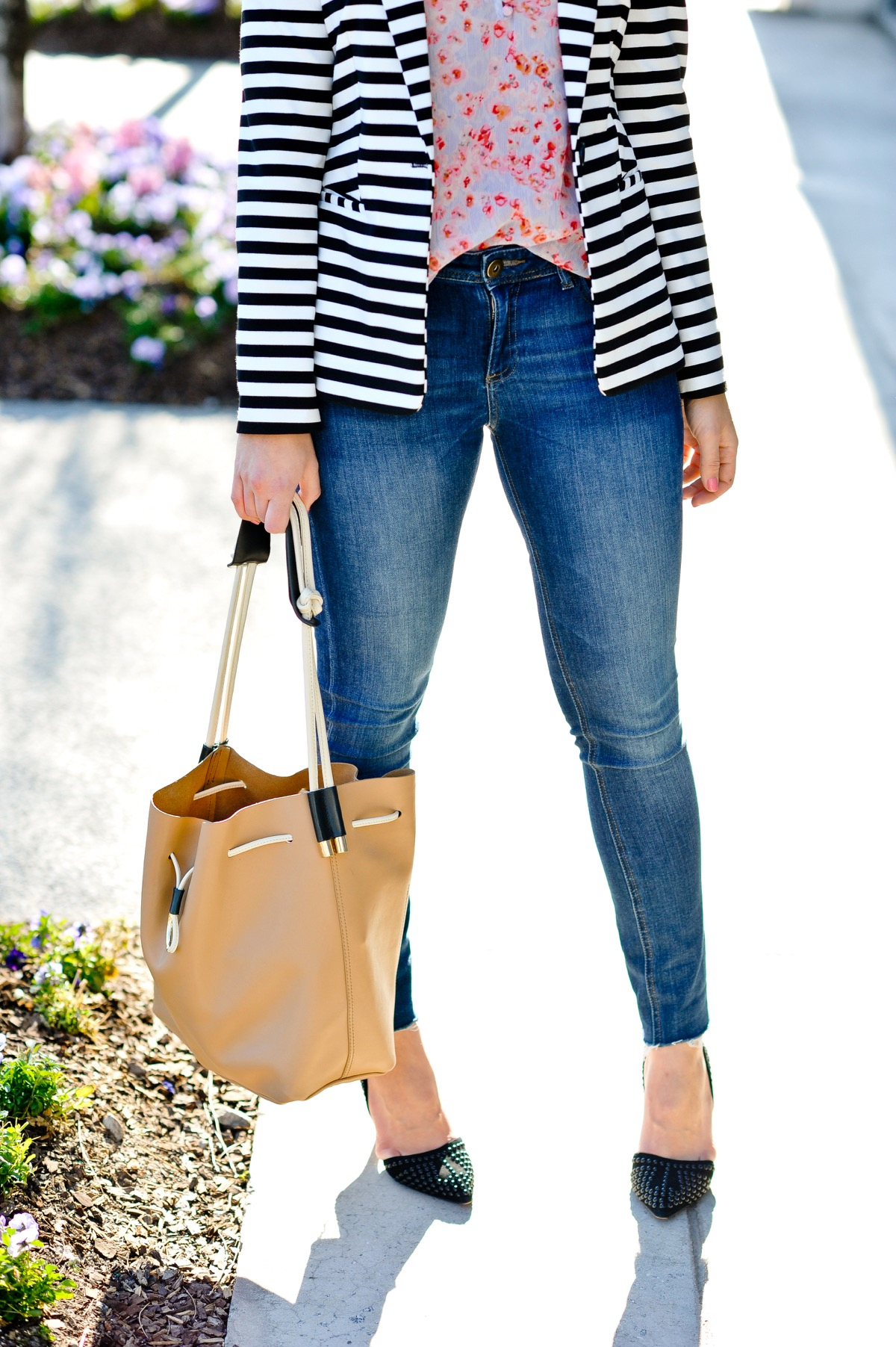 Ways to wear floral and stripes together, Florals and stripes spring outfit ideas - @mystylevita