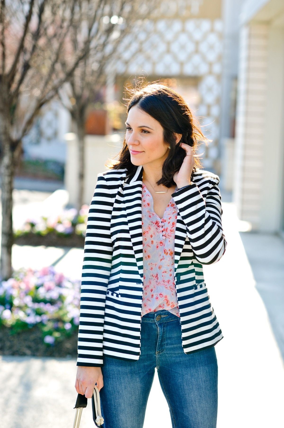 florals and stripes for spring  my style vita