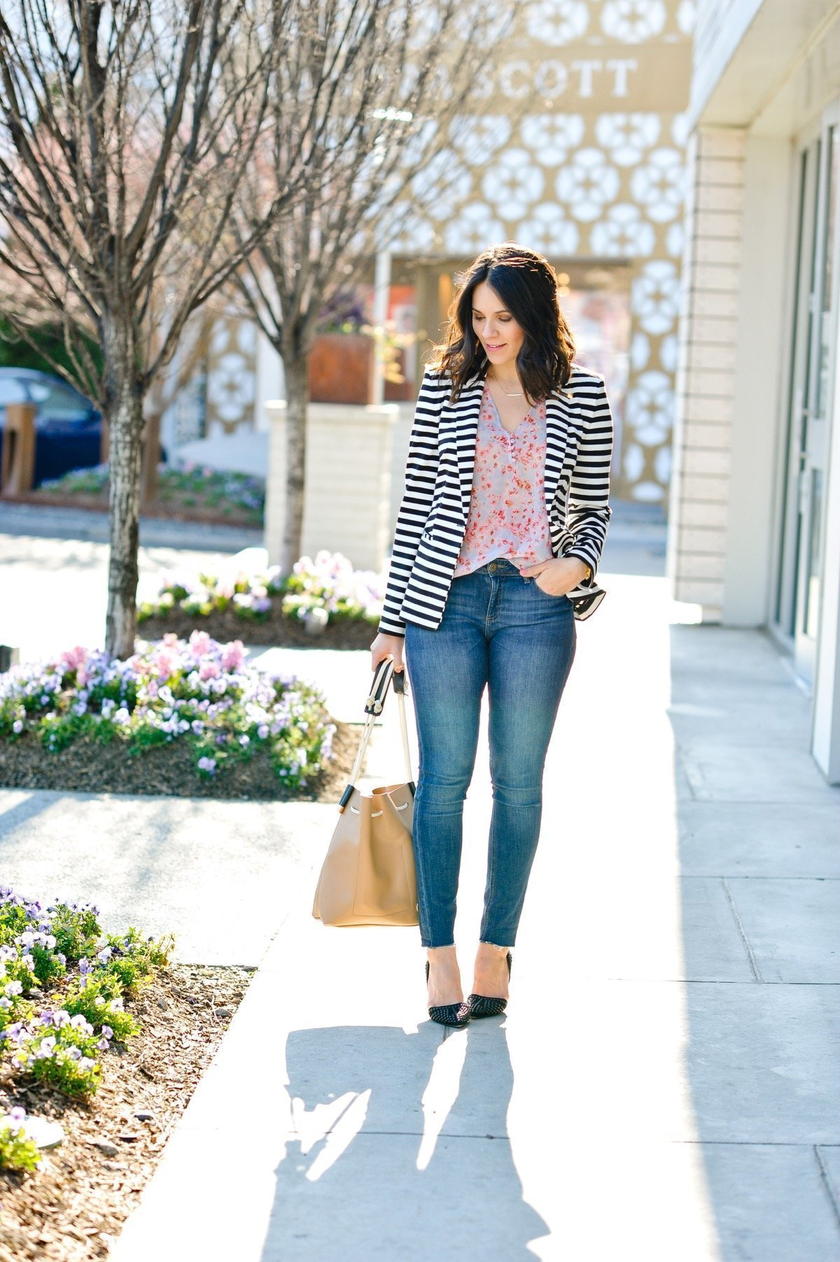 Florals and stripes spring outfit ideas - @mystylevita