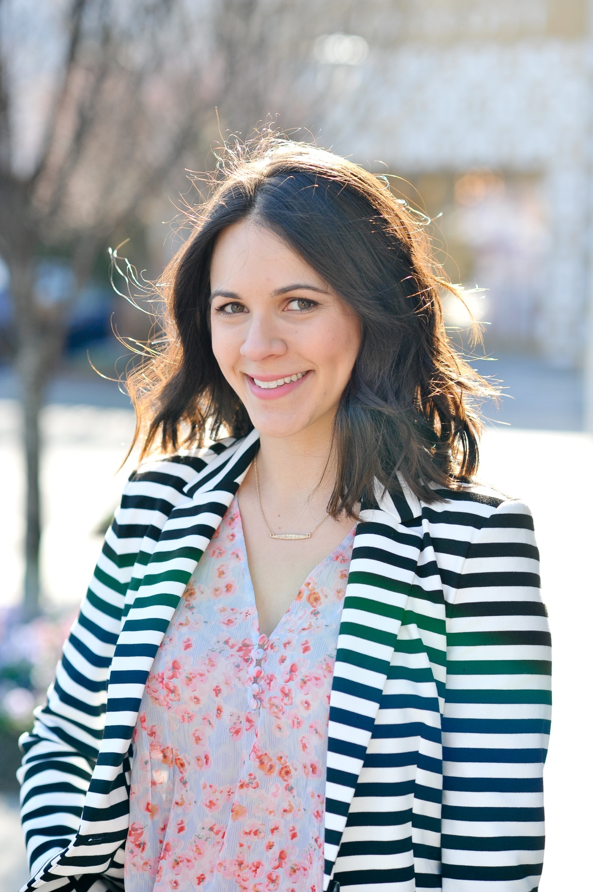 Ways to wear floral and stripes together, stripes and florals spring outfit ideas - @mystylevita