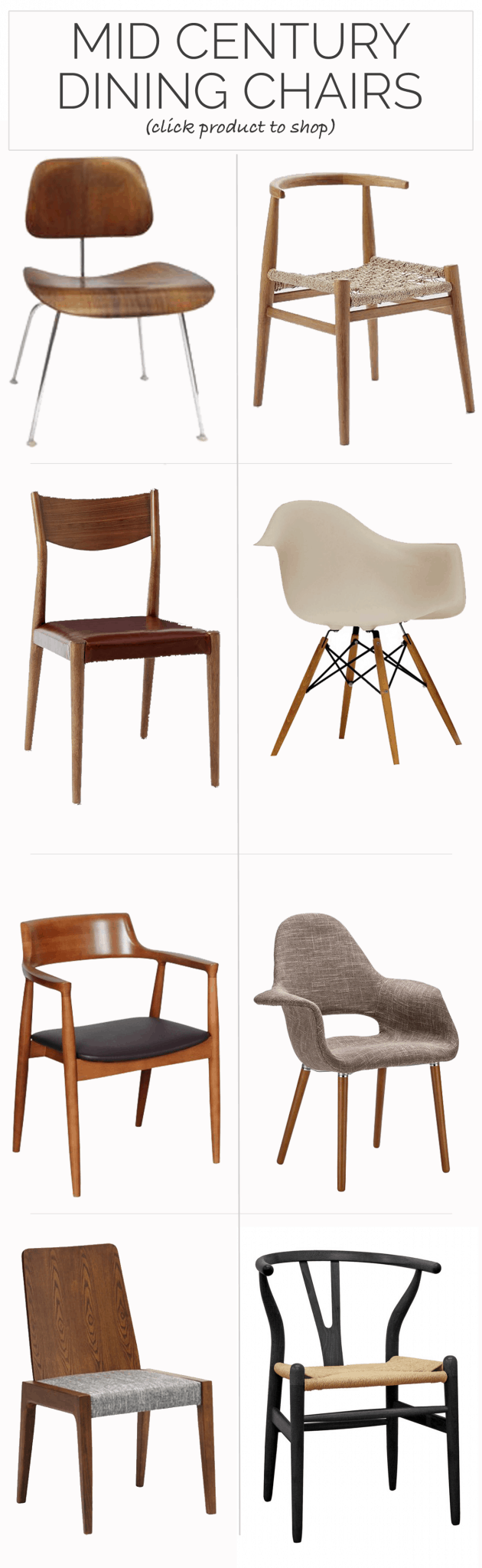 The best mid century dining chairs my style vita for Mid century modern style chairs