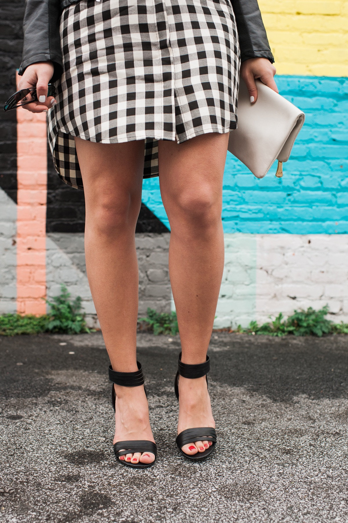 Gingham Madewell Dress And Leather Jacket - fashion blog - outfit - @mystylevita