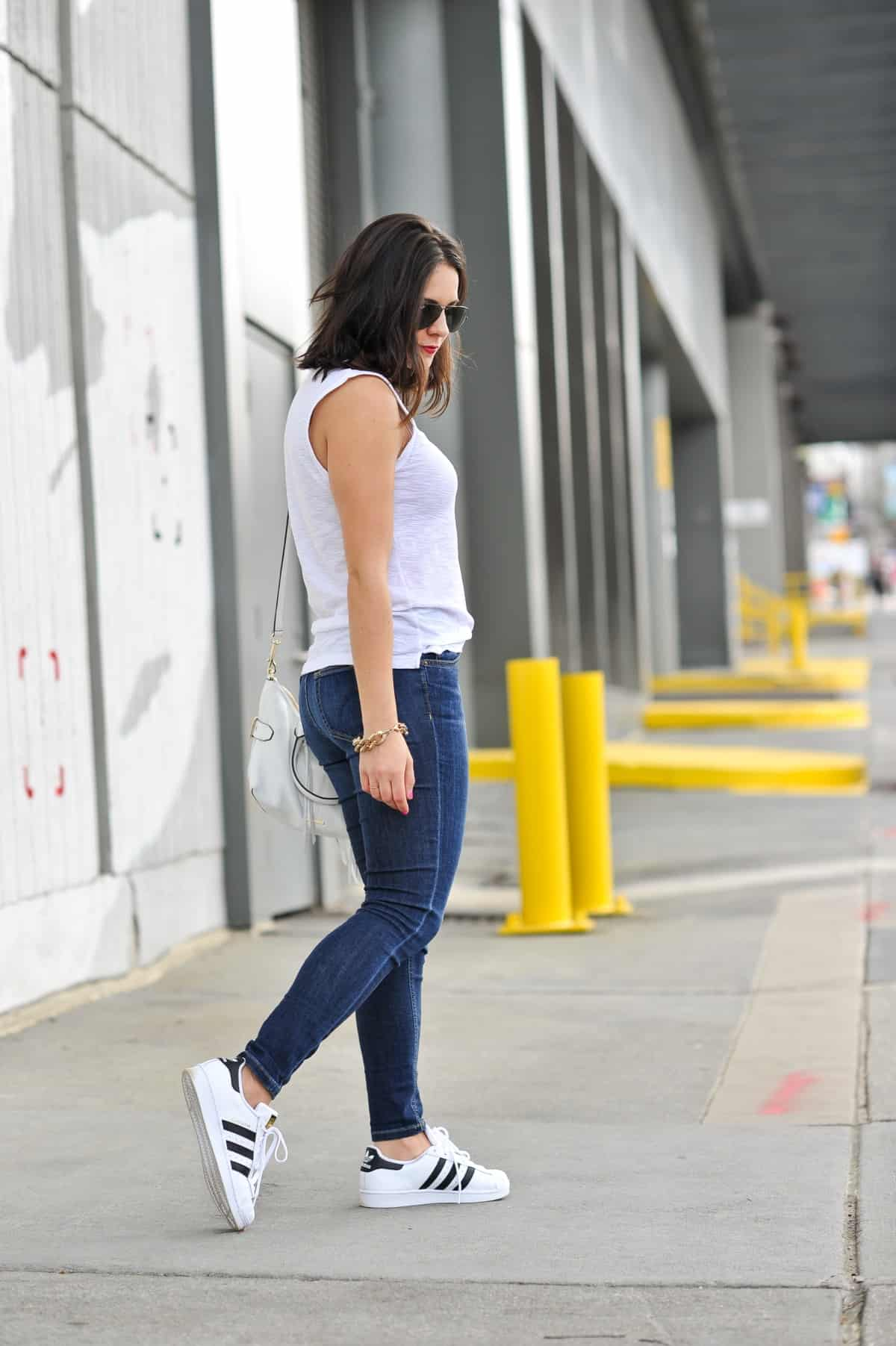 street style outfit ideas with adidas