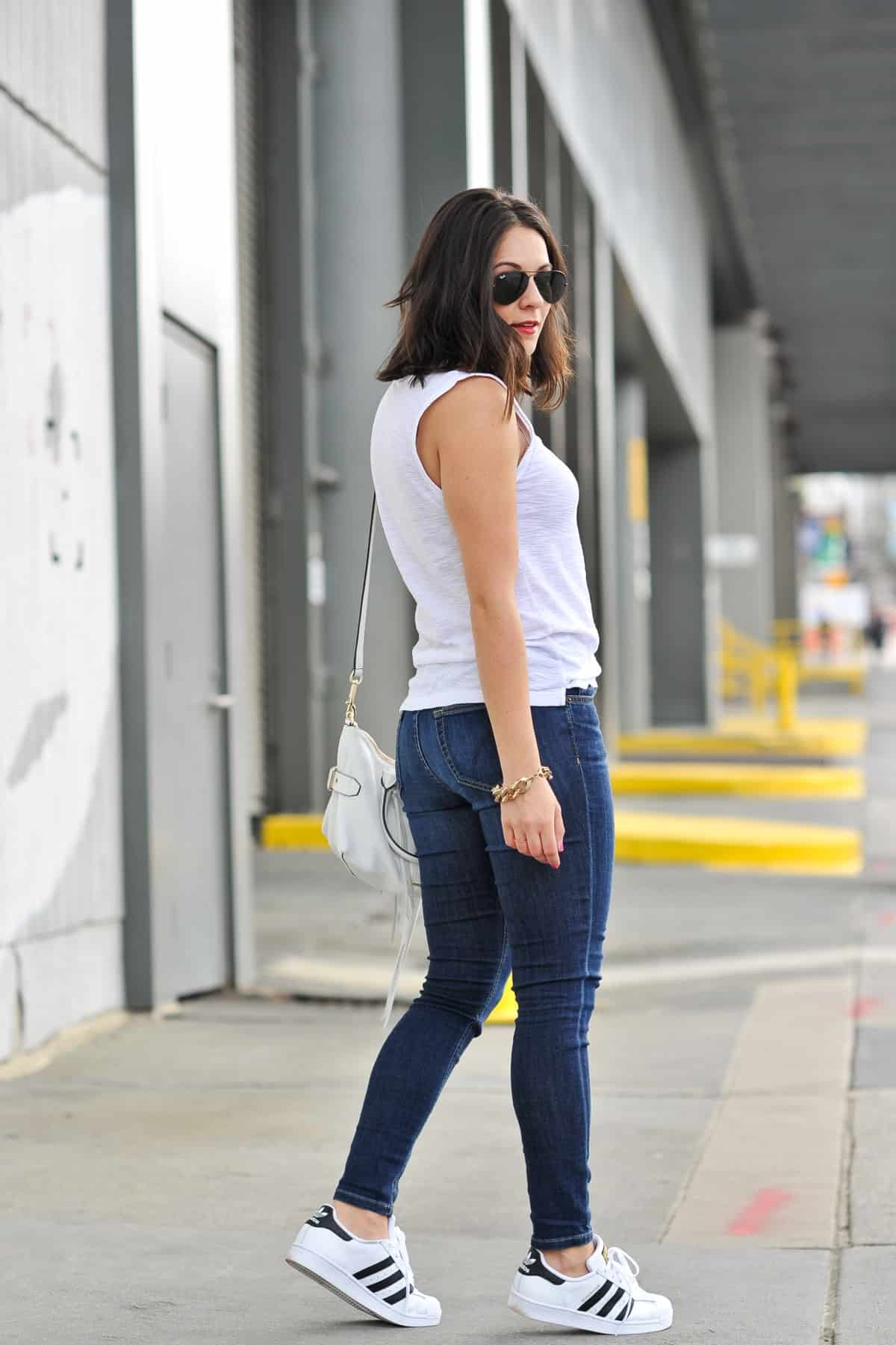 jessica camerata wear adidas with jeans