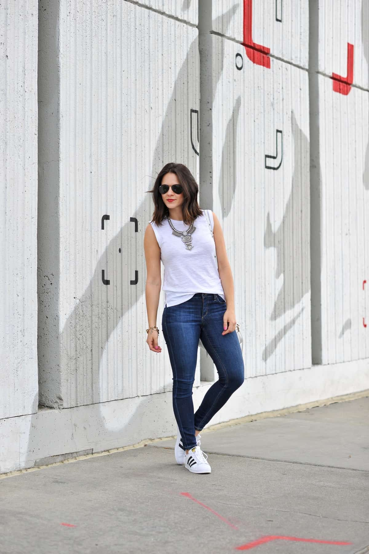 street style with adidas and jeans
