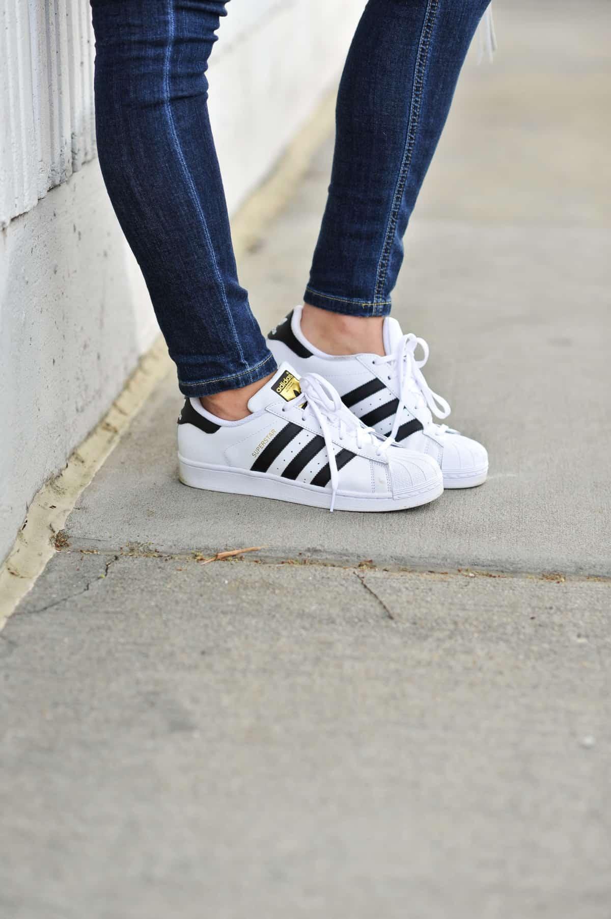 Adidas Originals and jeans