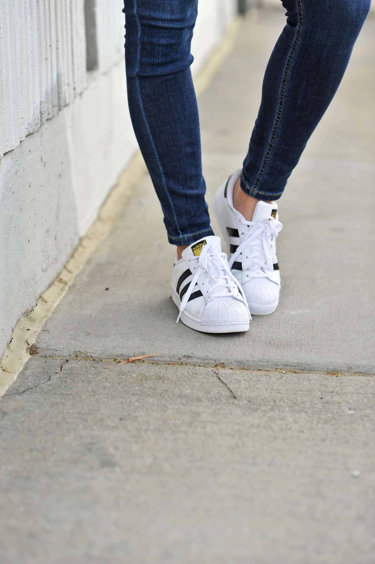 adidas and jeans