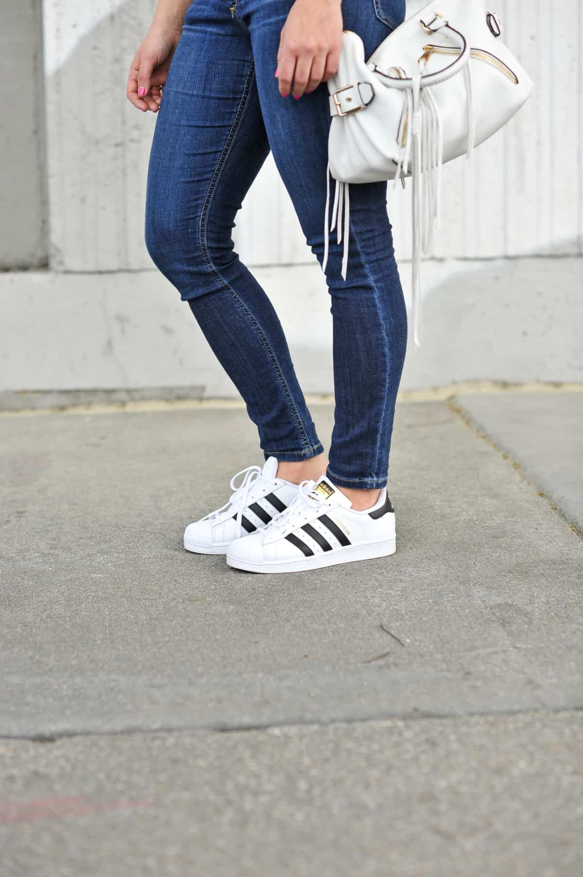 Adidas superstars with jeans