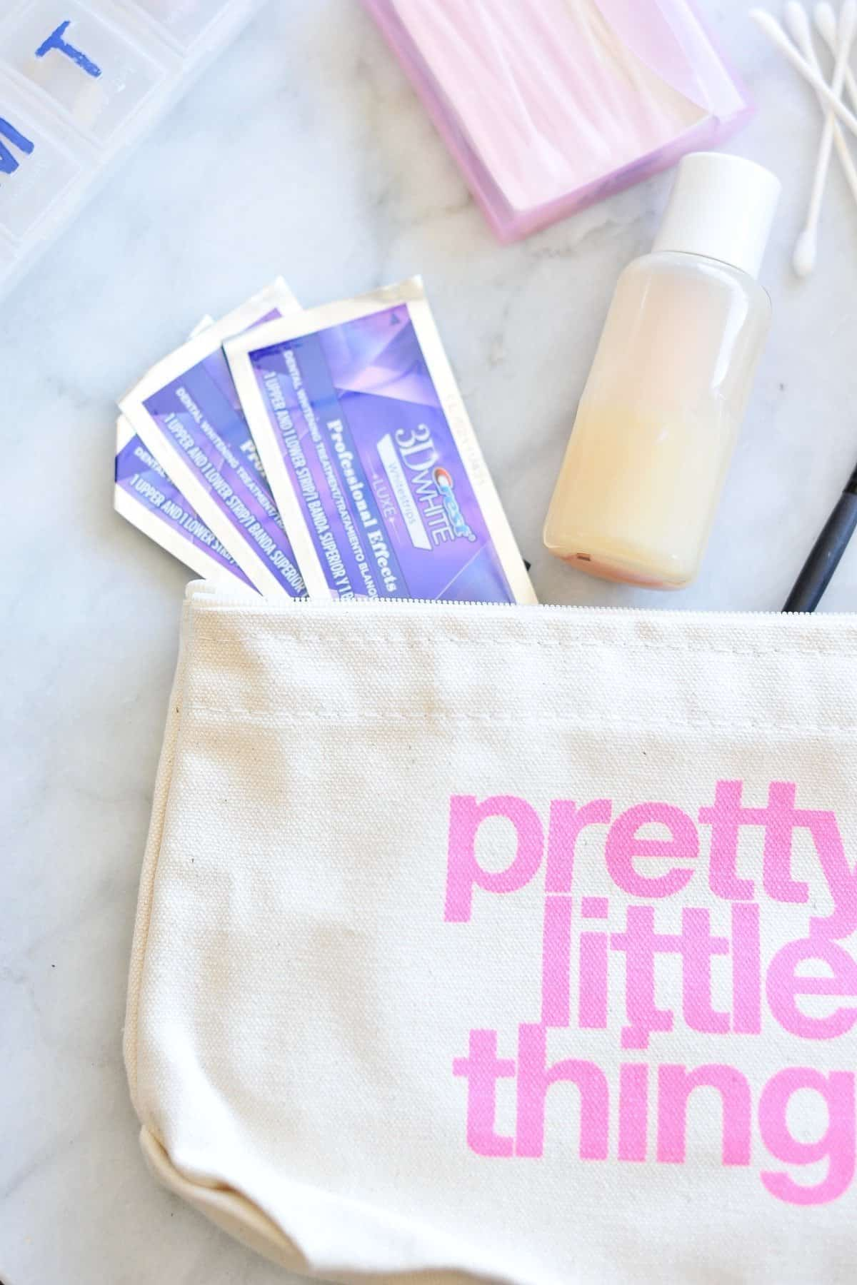 crest white strip packing tips - best beauty products to pack - My Style Vita - @mystylevita