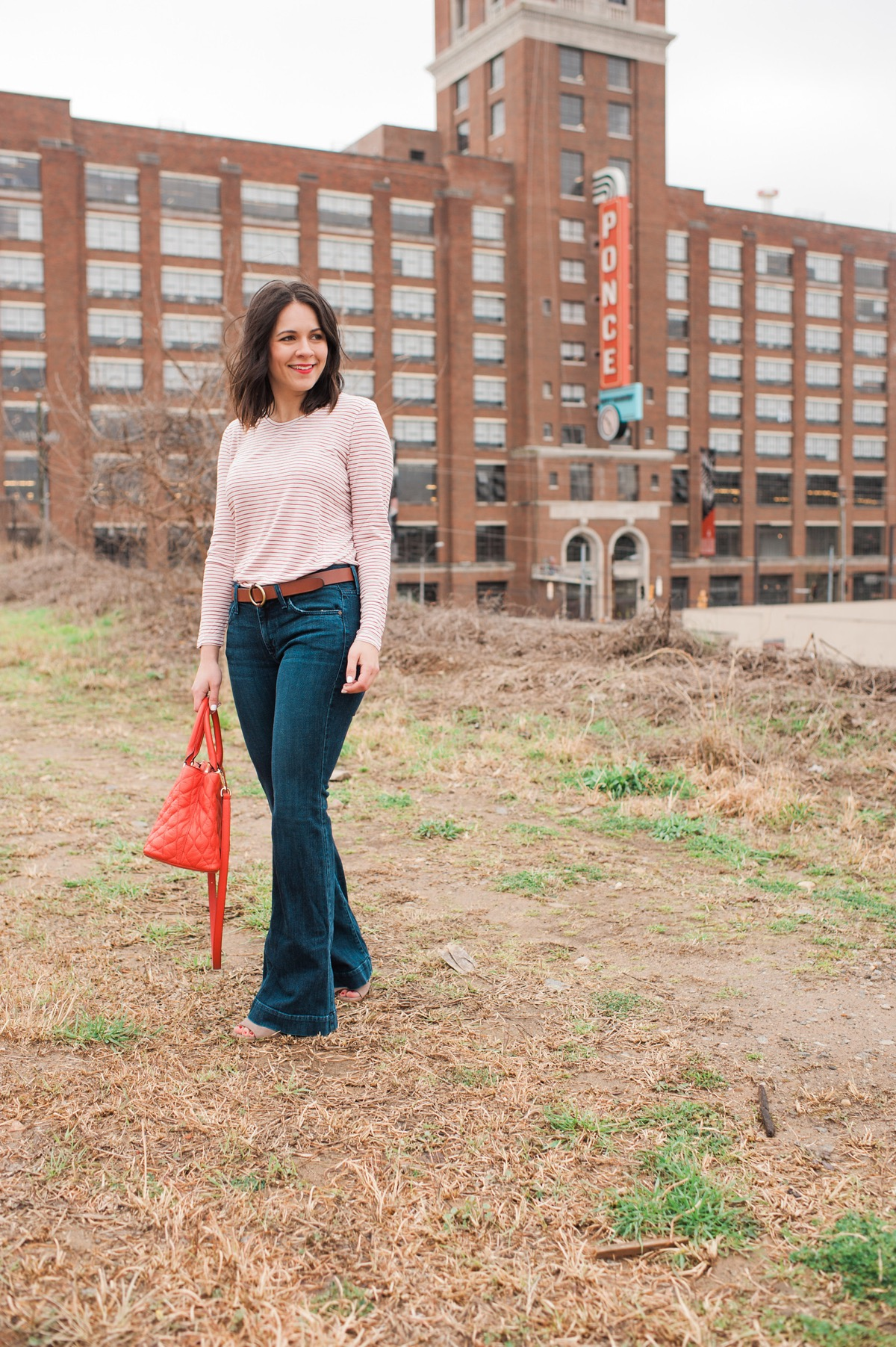 madewell striped tee and wideleg jeans - fashion blog - outfit - @mystylevita