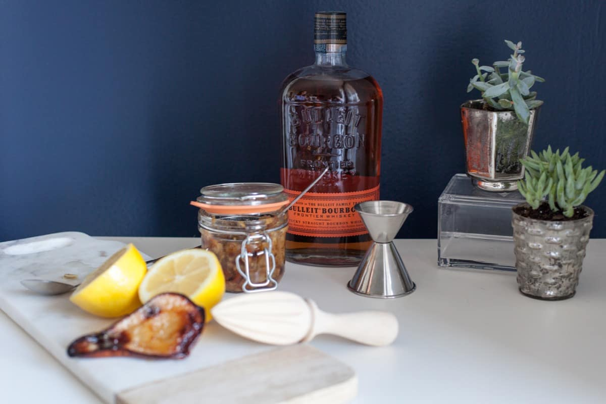roasted pear bourbon cocktail recipe - @mystylevita - 1