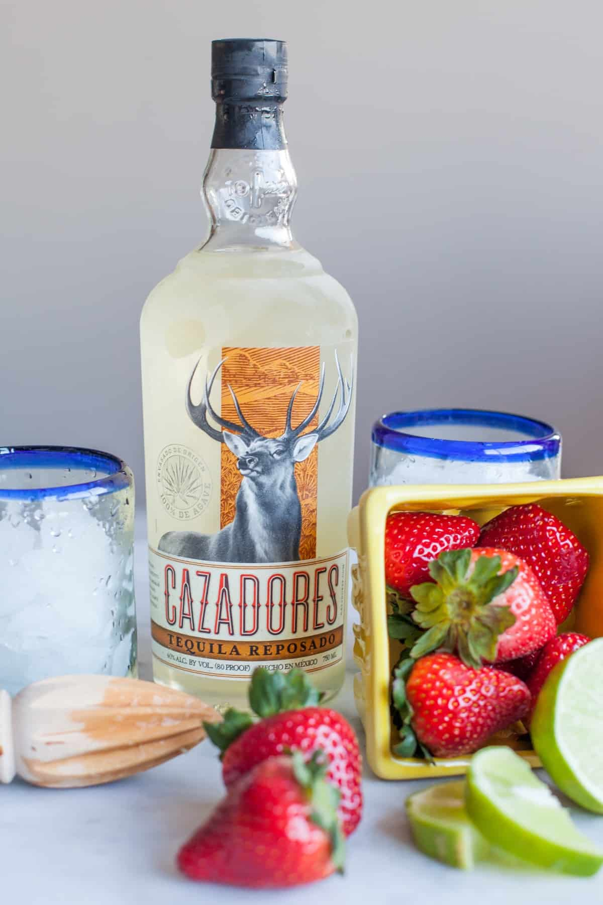 how to make a strawberry margarita