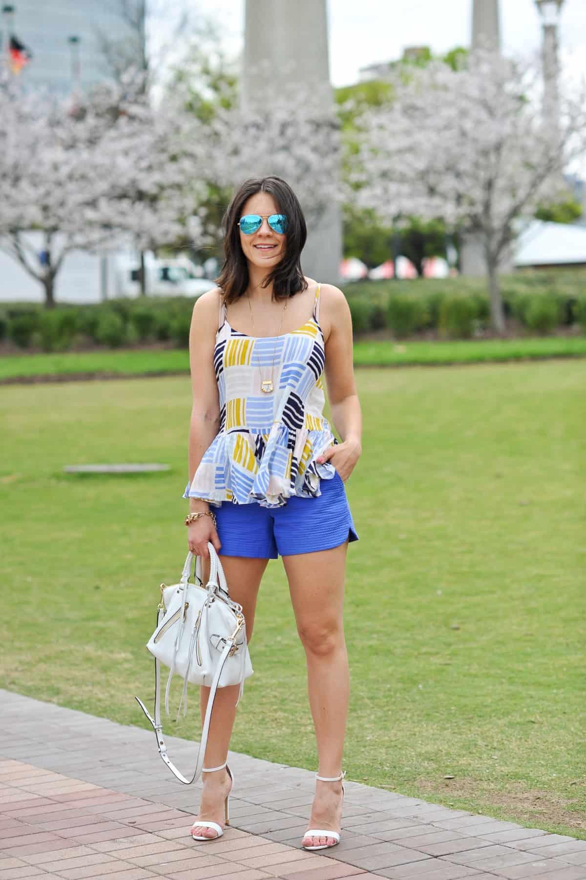 Old Navy printed peplum tank - summer outfit ideas - My Style Vita - @mystylevita - 1