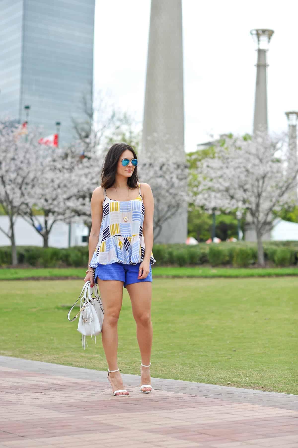 Old Navy printed peplum tank - summer outfit ideas - My Style Vita - @mystylevita - 10
