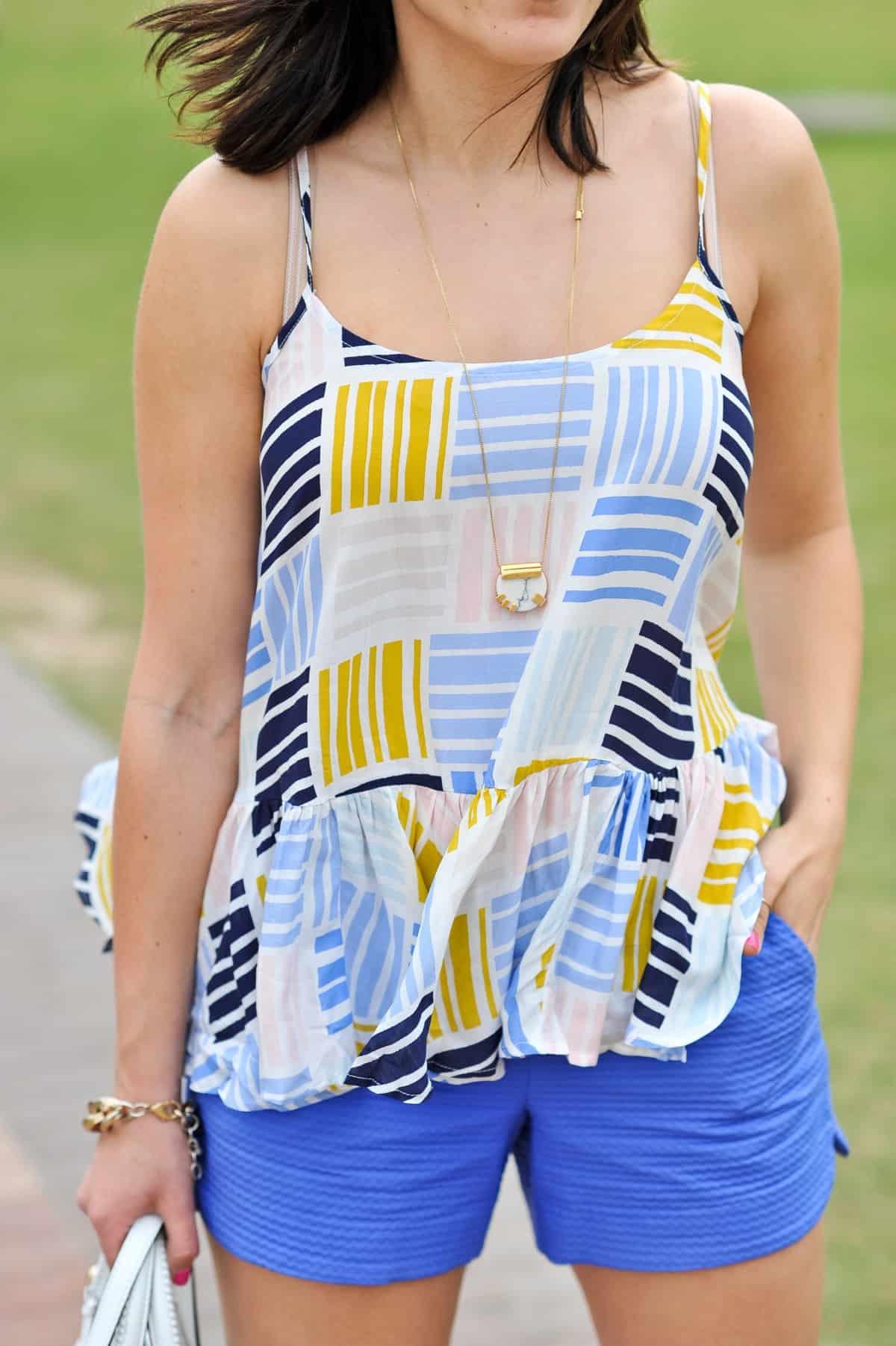 Old Navy printed peplum tank - summer outfit ideas - My Style Vita - @mystylevita - 12