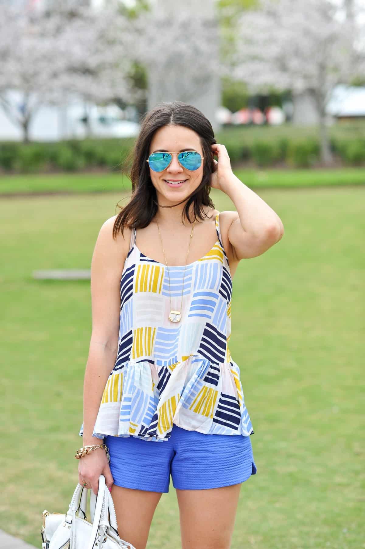 Old Navy printed peplum tank - summer outfit ideas - My Style Vita - @mystylevita - 13