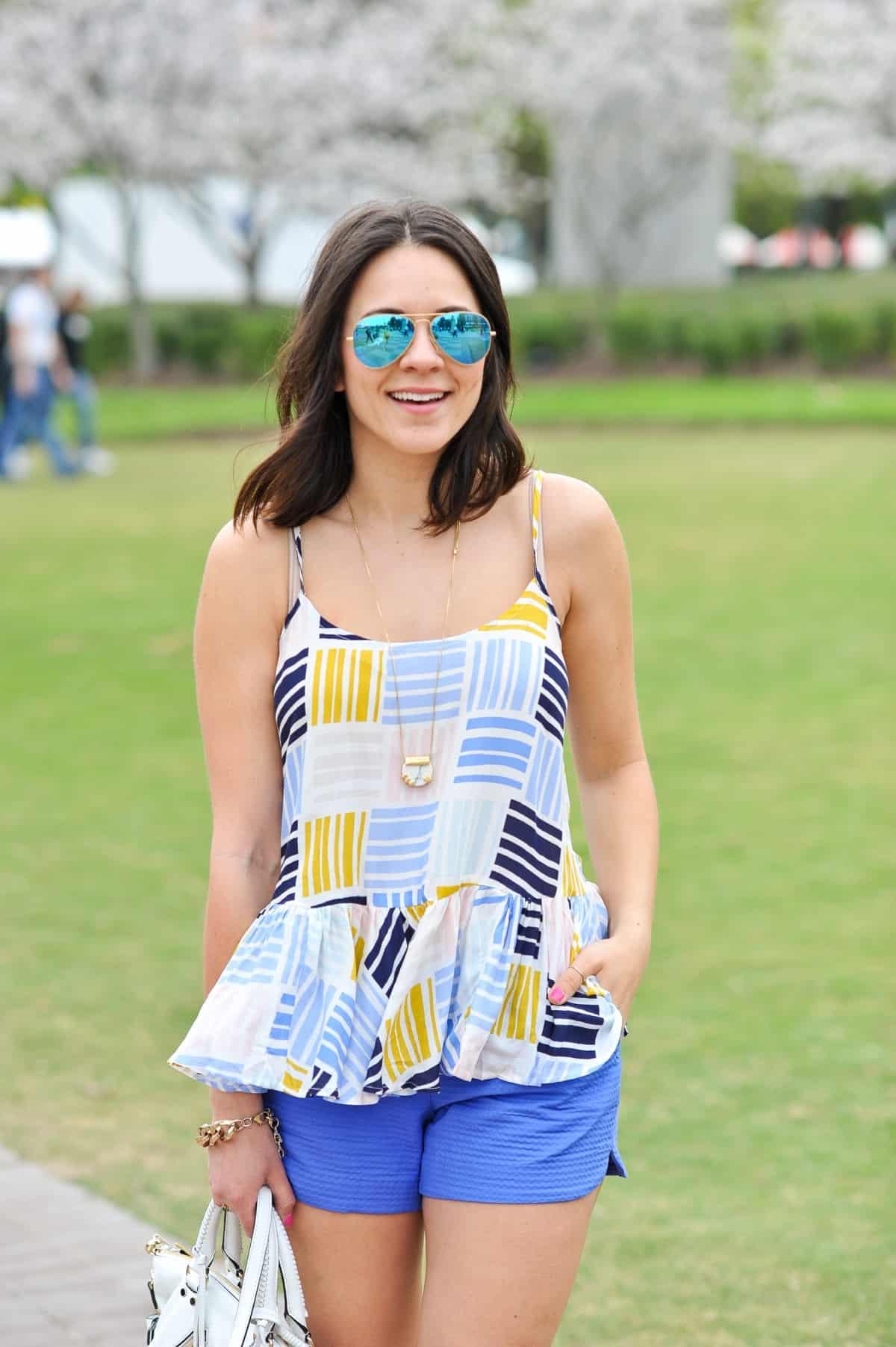 Old Navy printed peplum tank - summer outfit ideas - My Style Vita - @mystylevita - 17