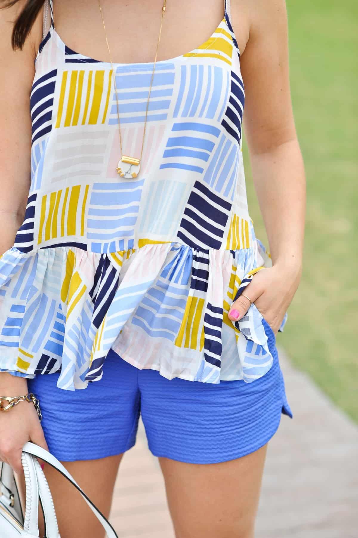 Old Navy printed peplum tank - summer outfit ideas - My Style Vita - @mystylevita - 18
