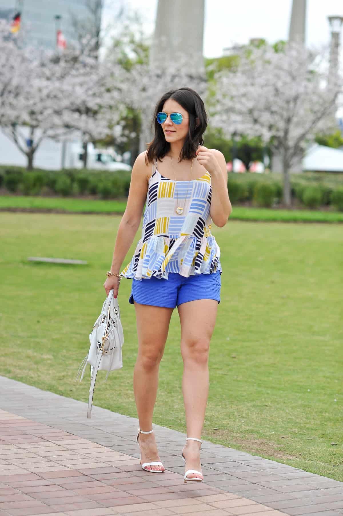 Old Navy printed peplum tank - summer outfit ideas - My Style Vita - @mystylevita - 3