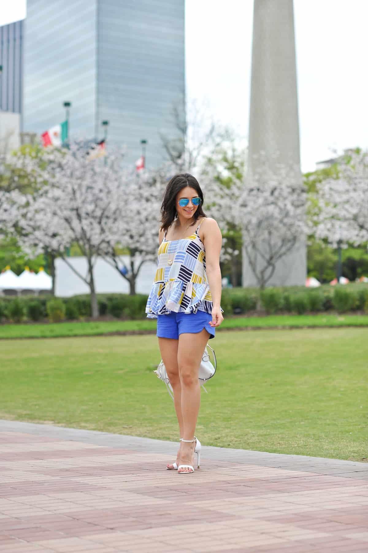 Old Navy printed peplum tank - summer outfit ideas - My Style Vita - @mystylevita - 8