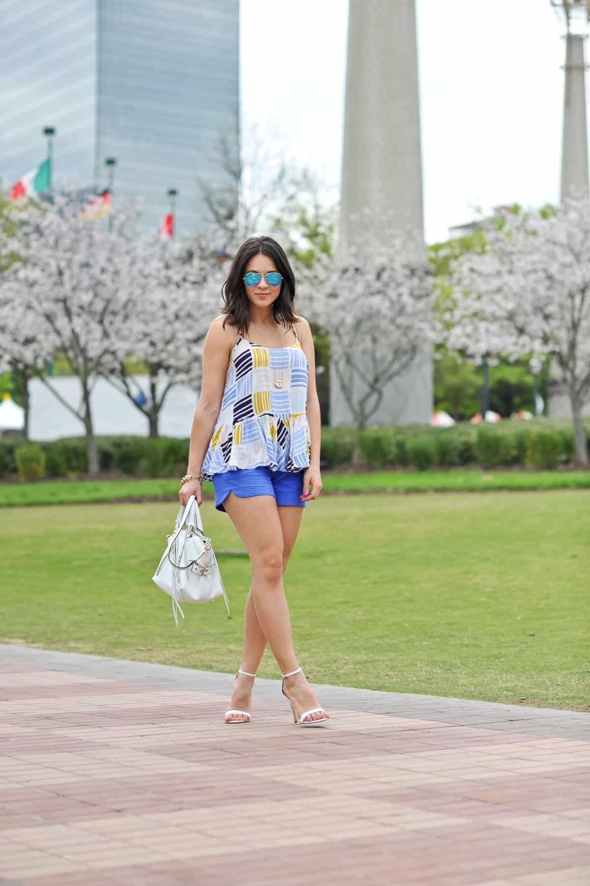 Old Navy printed peplum tank - summer outfit ideas - My Style Vita - @mystylevita - 9