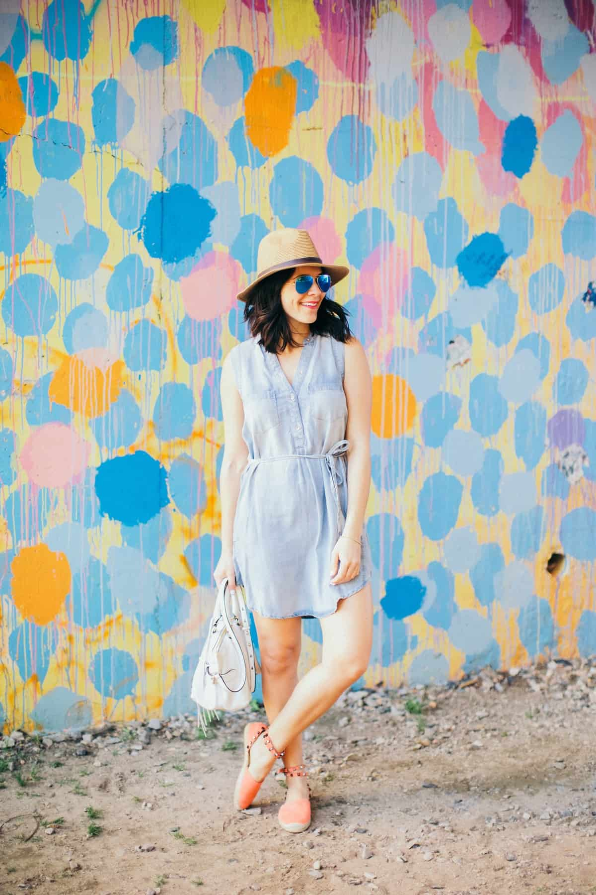 chambray shirt dress and espadrilles, best espadrilles for summer - My Style Vita - @mystylevita