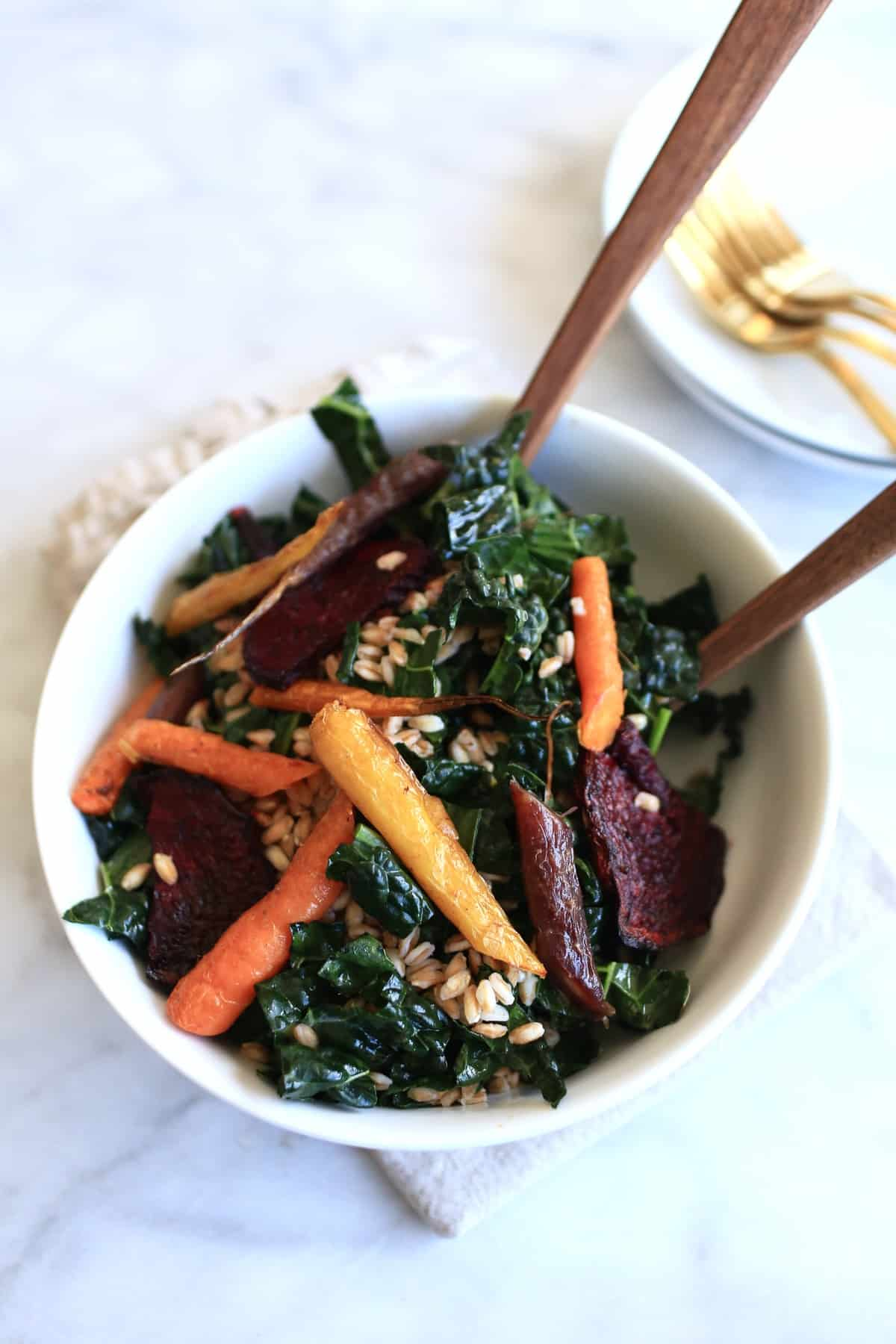 roasted root vegetable and kale salad, recipe, food blogger, - @mystylevita - 1 (1)