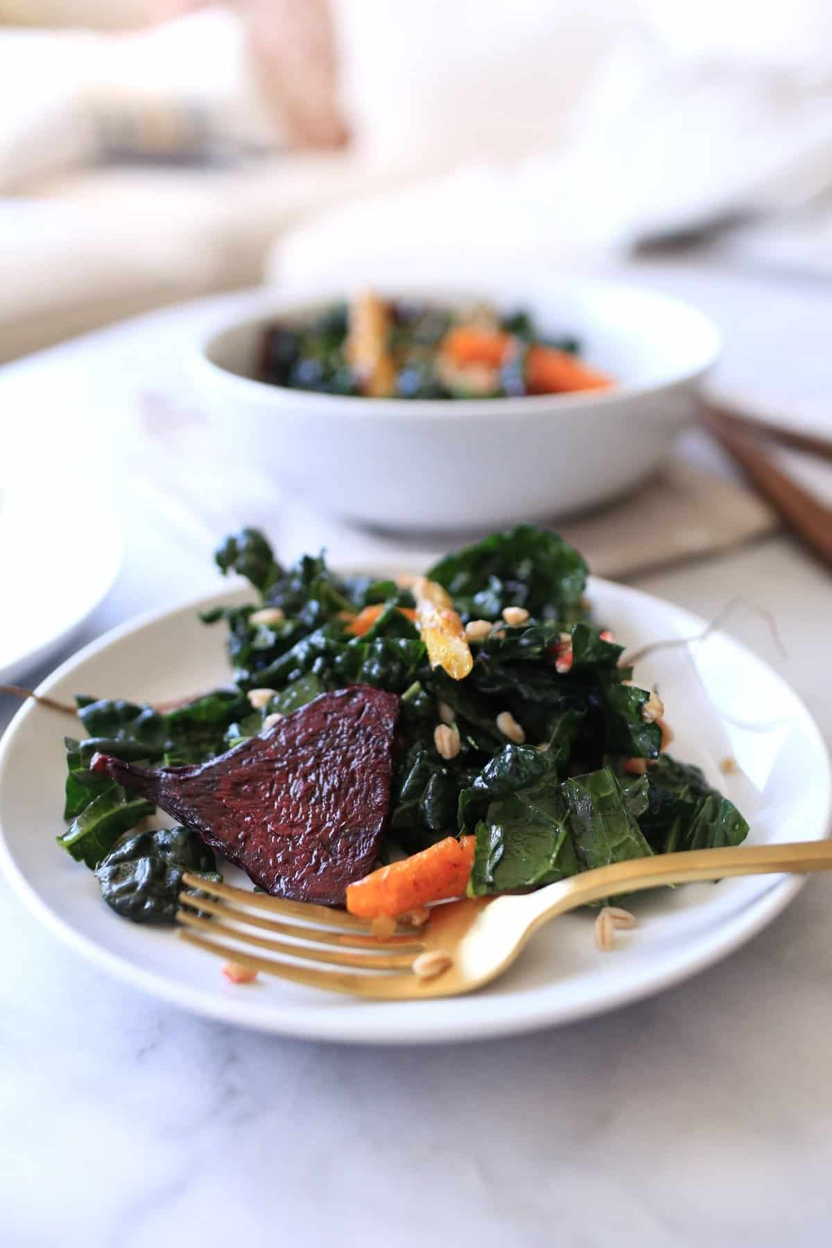 roasted root vegetable and kale salad, recipe, food blogger, - @mystylevita - 1 (2)