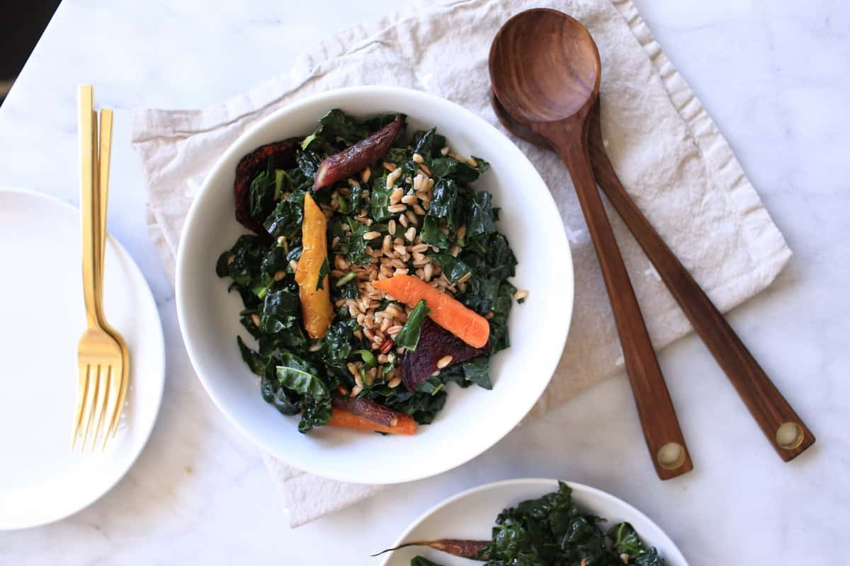 roasted root vegetable and kale salad, recipe, food blogger, - @mystylevita - 1 (3)