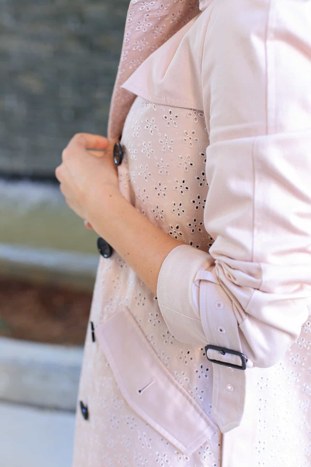 Coach eyelet trench coat, how to style a trench coat for spring - My Style Vita - @mystylevita - 10
