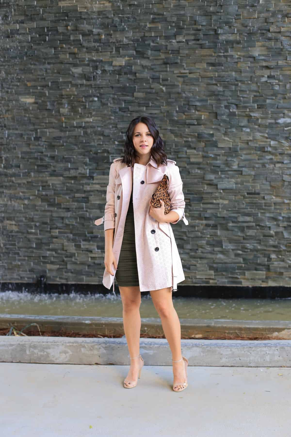 Coach eyelet trench coat, how to style a trench coat for spring - My Style Vita - @mystylevita - 2