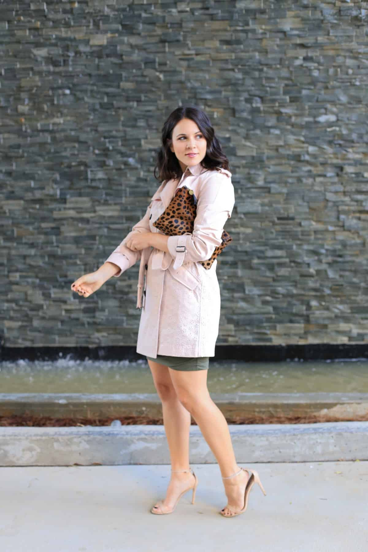 Coach eyelet trench coat, how to style a trench coat for spring - My Style Vita - @mystylevita - 4