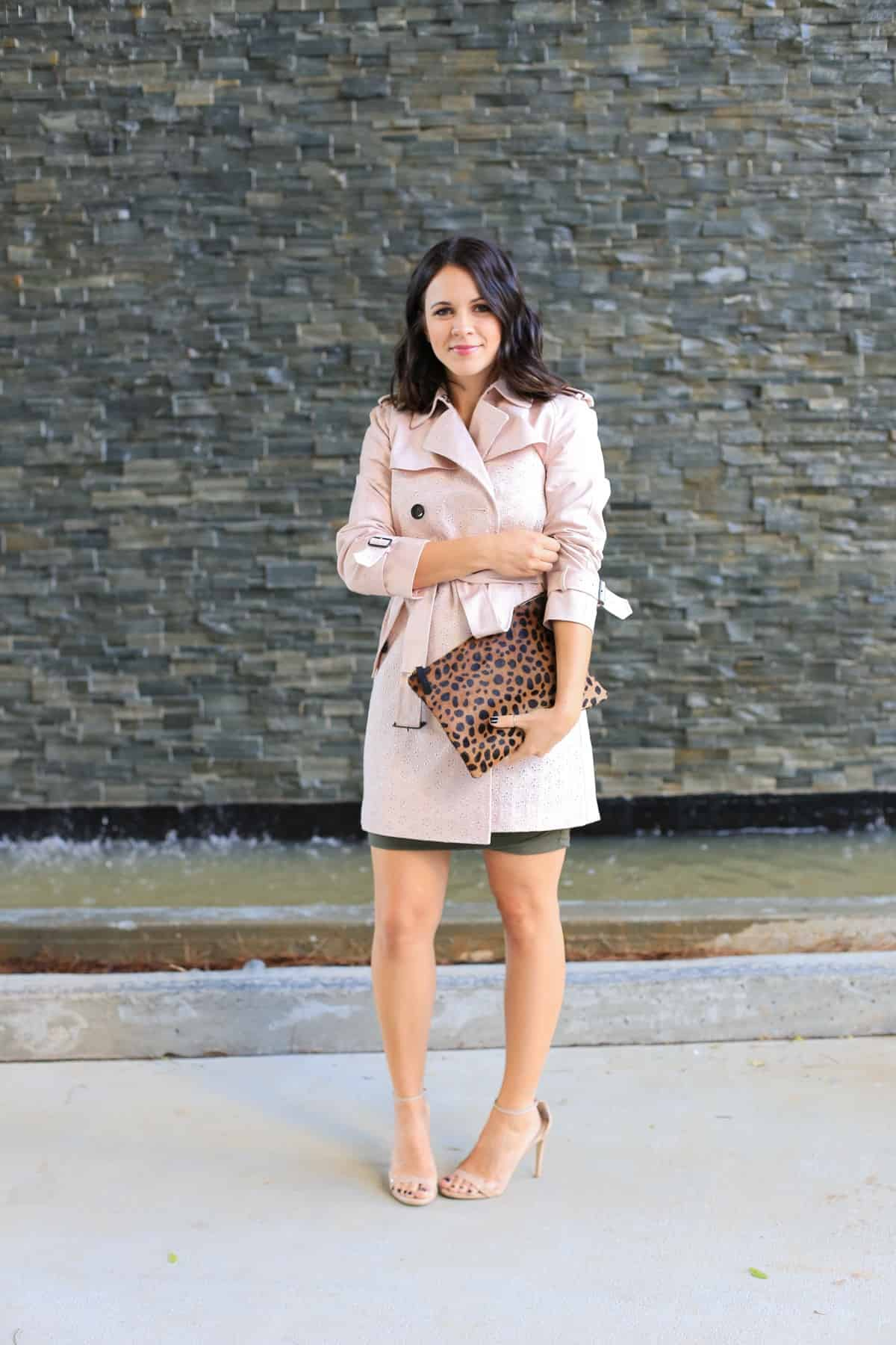 Coach eyelet trench coat, how to style a trench coat for spring - My Style Vita - @mystylevita - 5