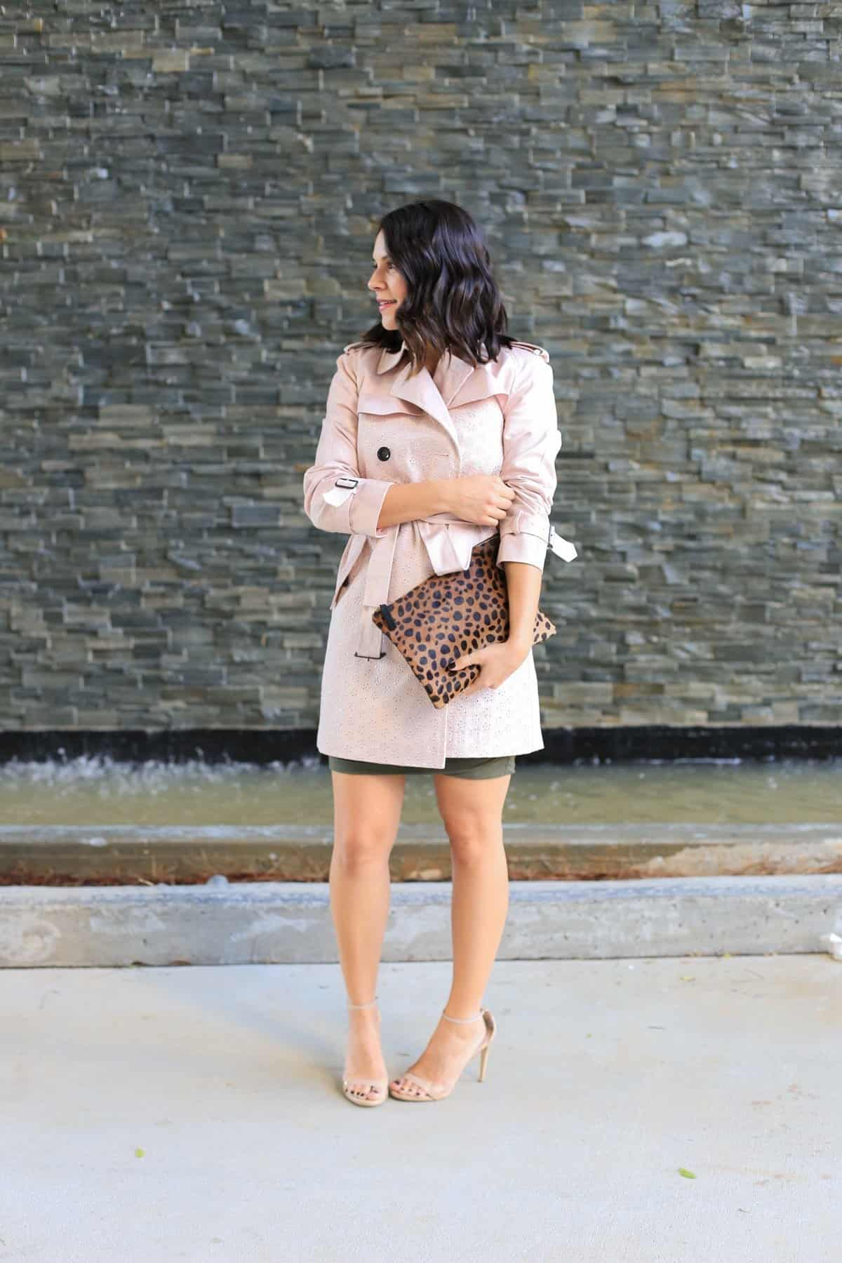 Coach eyelet trench coat, how to style a trench coat for spring - My Style Vita - @mystylevita - 6