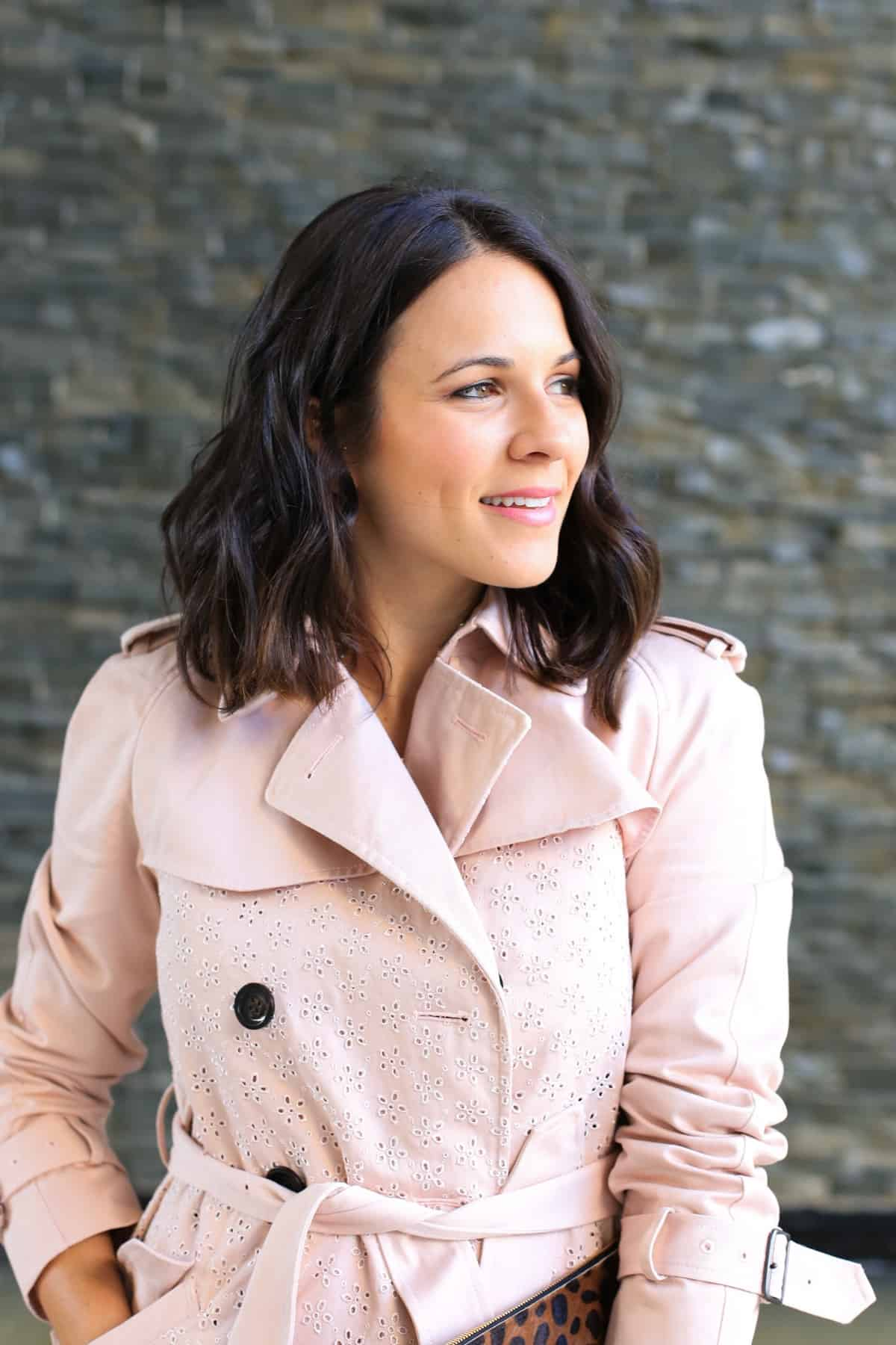 Coach eyelet trench coat, how to style a trench coat for spring - My Style Vita - @mystylevita - 7
