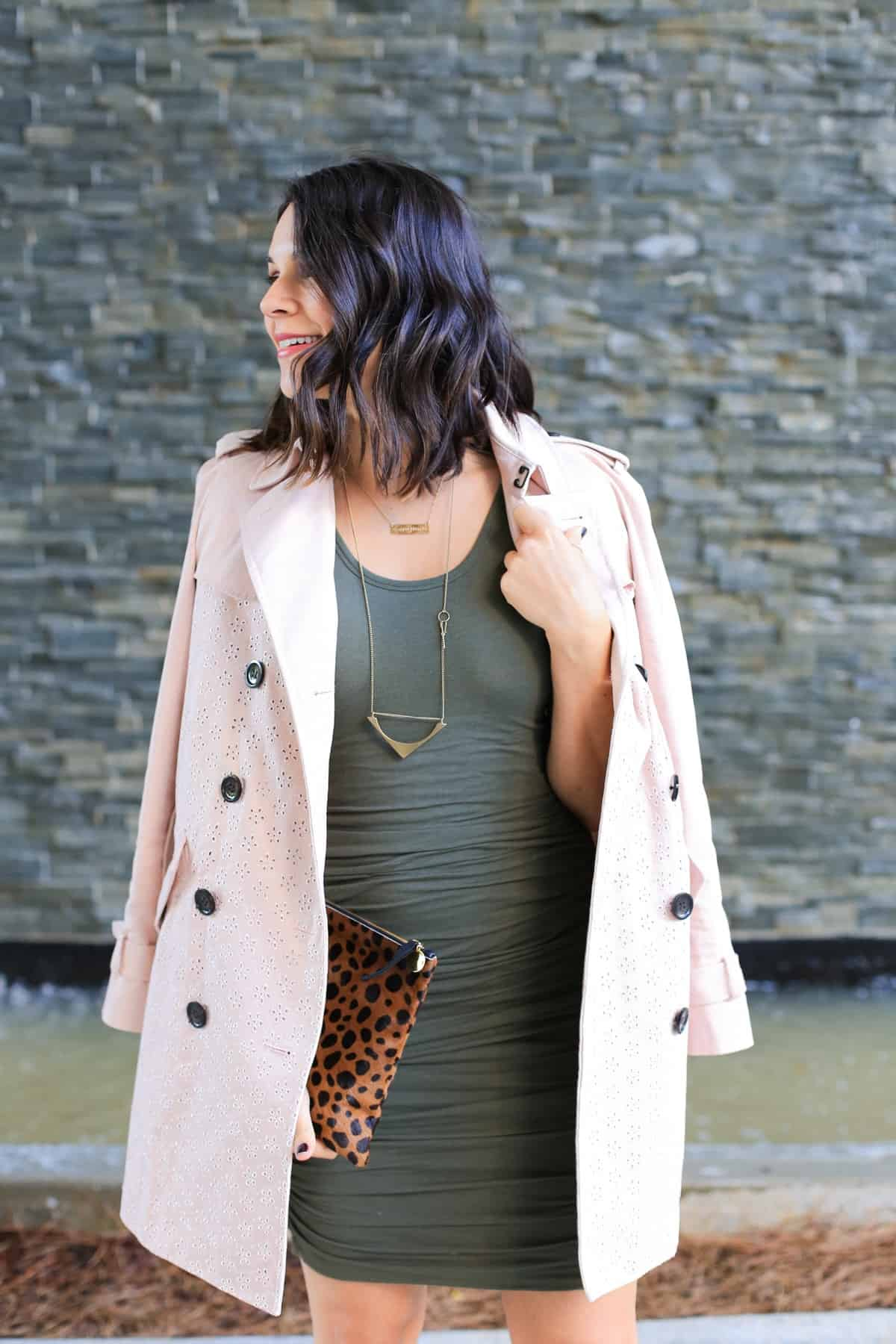 Coach eyelet trench coat, how to style a trench coat for spring - My Style Vita - @mystylevita - 8