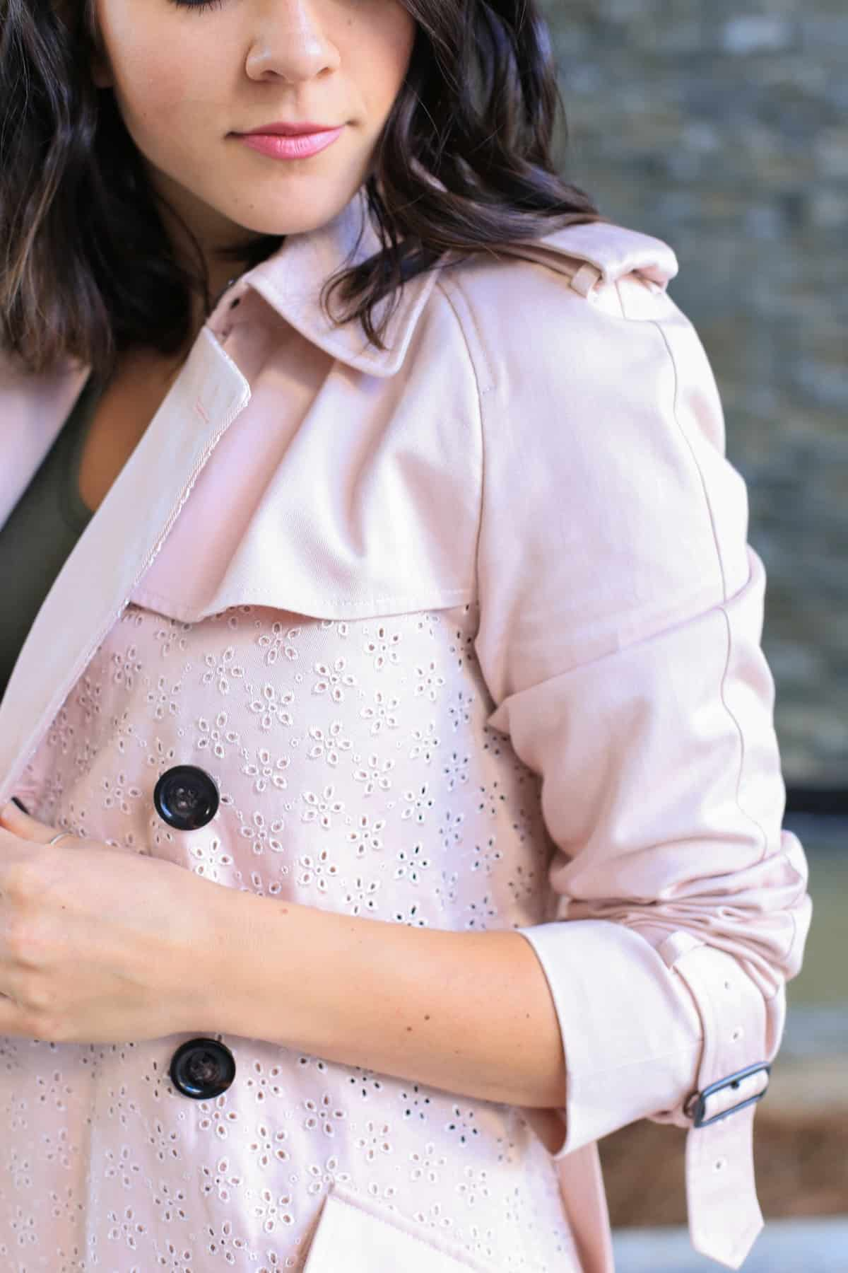 Coach eyelet trench coat, how to style a trench coat for spring - My Style Vita - @mystylevita - 9
