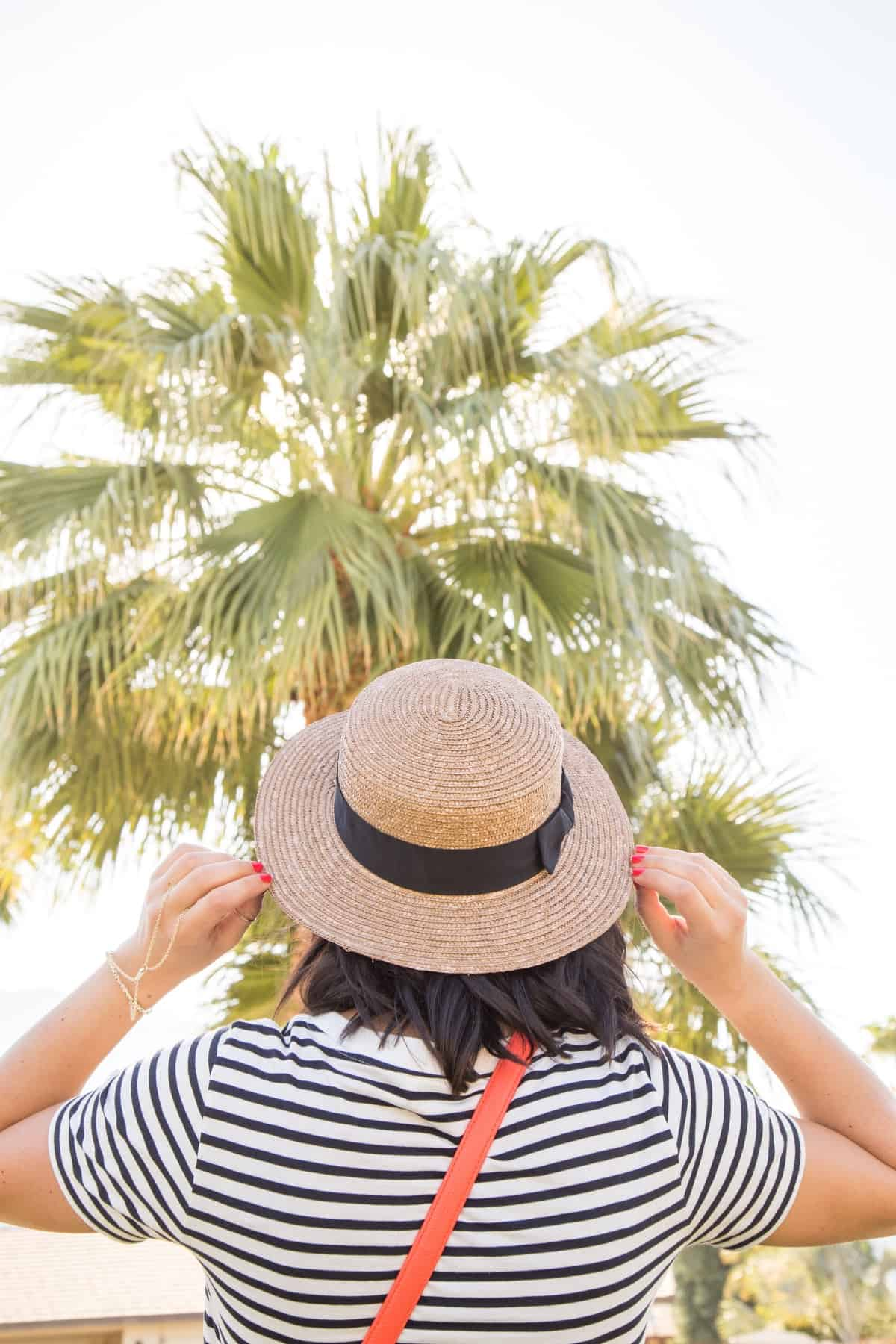 Boat hat, Boater hat, Coachella outfit ideas, summer outfit ideas - My Style Vita - @mystylevita