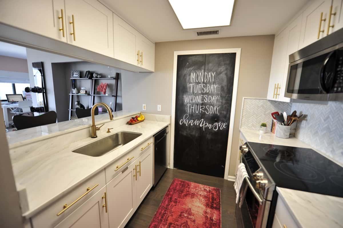 all white and brass kitchen, white kitchen ideas, marble in the kitchen - My Style Vita @mystylevita - 15