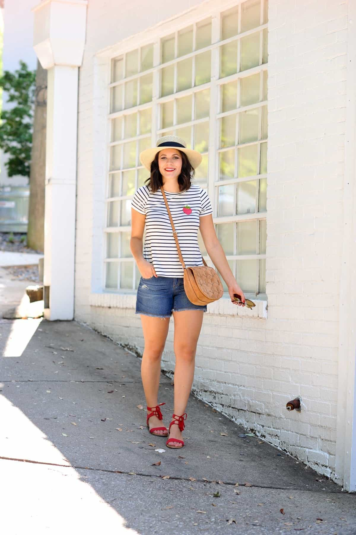4th of july outfit ideas, striped tee outfits - @mystylevita - 10