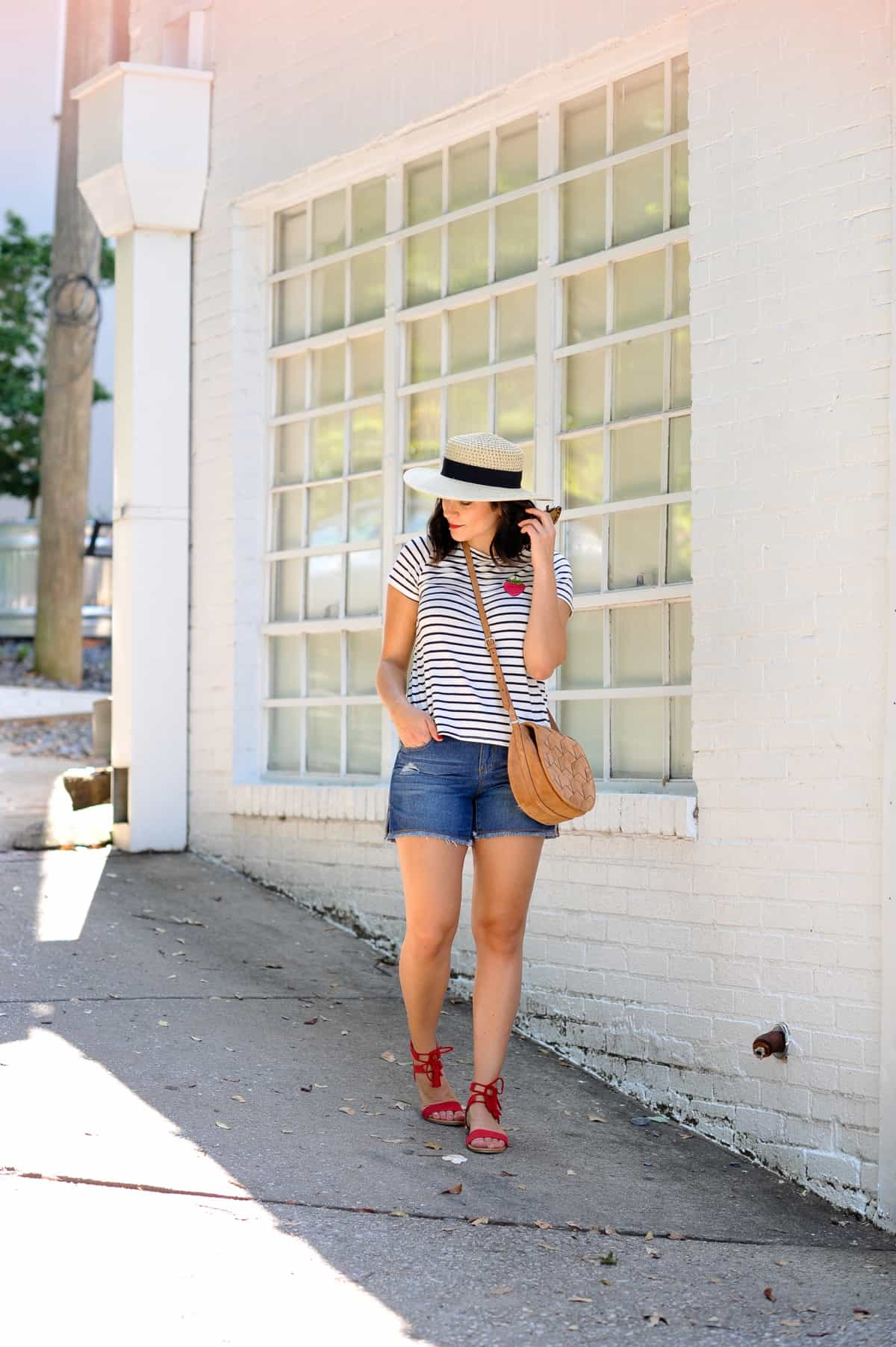 4th of july outfit ideas, striped tee outfits - @mystylevita - 11