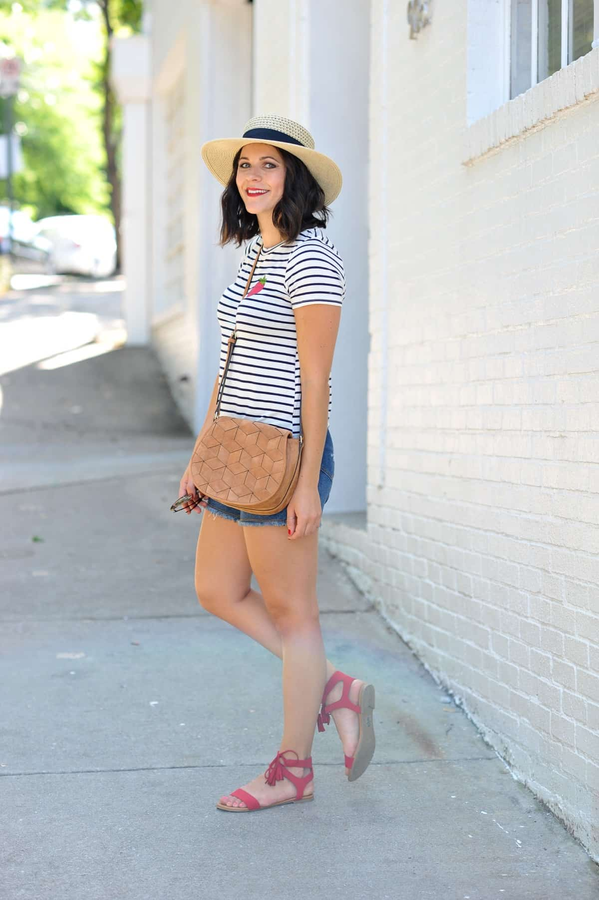 4th of july outfit ideas, striped tee outfits - @mystylevita - 16