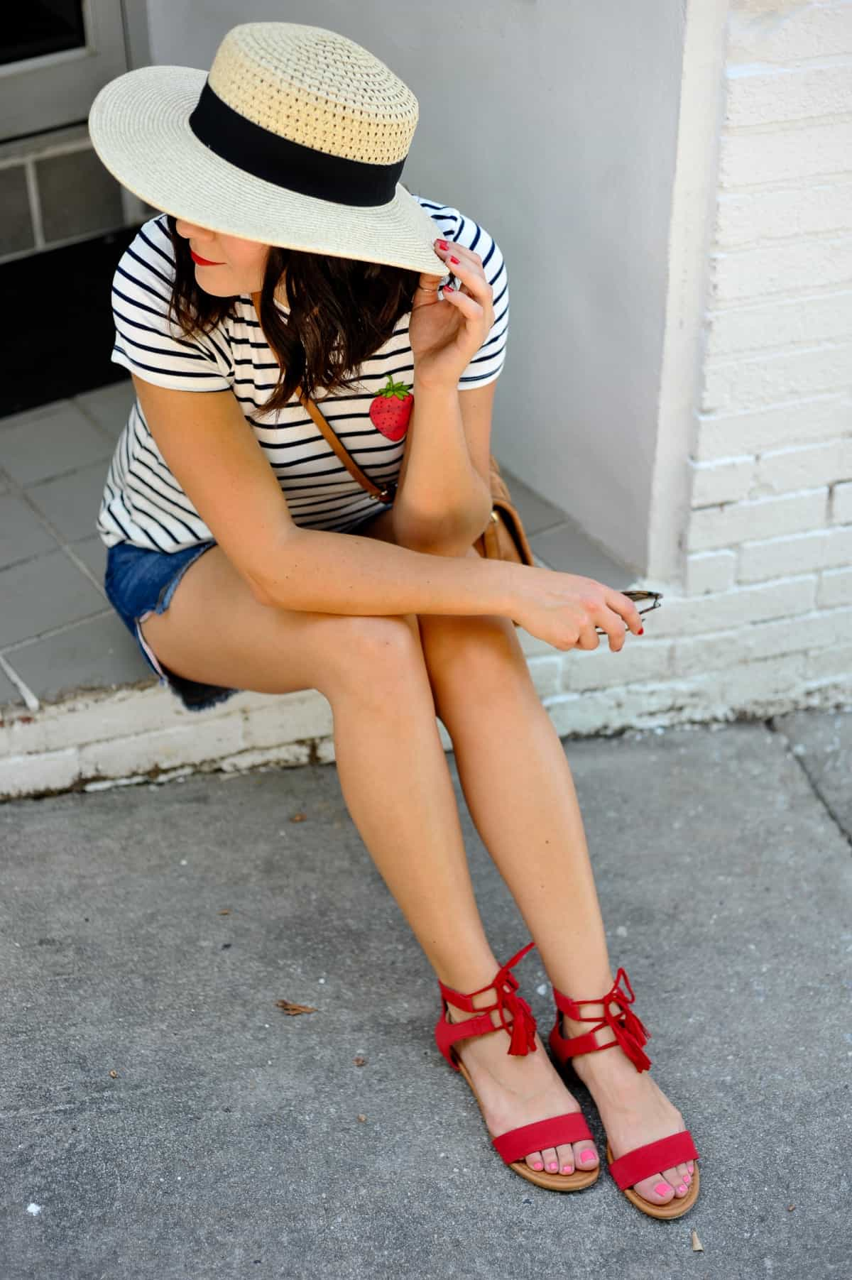 4th of july outfit ideas, striped tee outfits - @mystylevita - 21