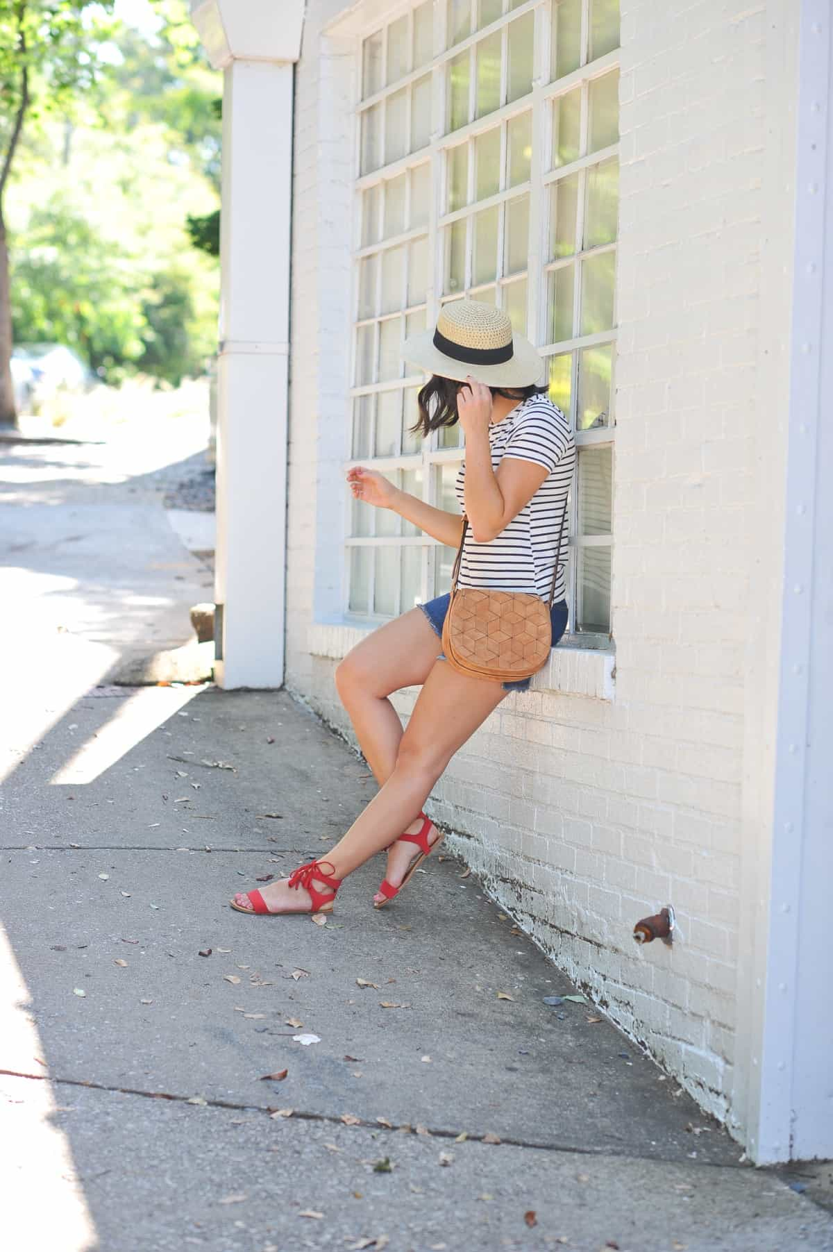 4th of july outfit ideas, striped tee outfits - @mystylevita - 3