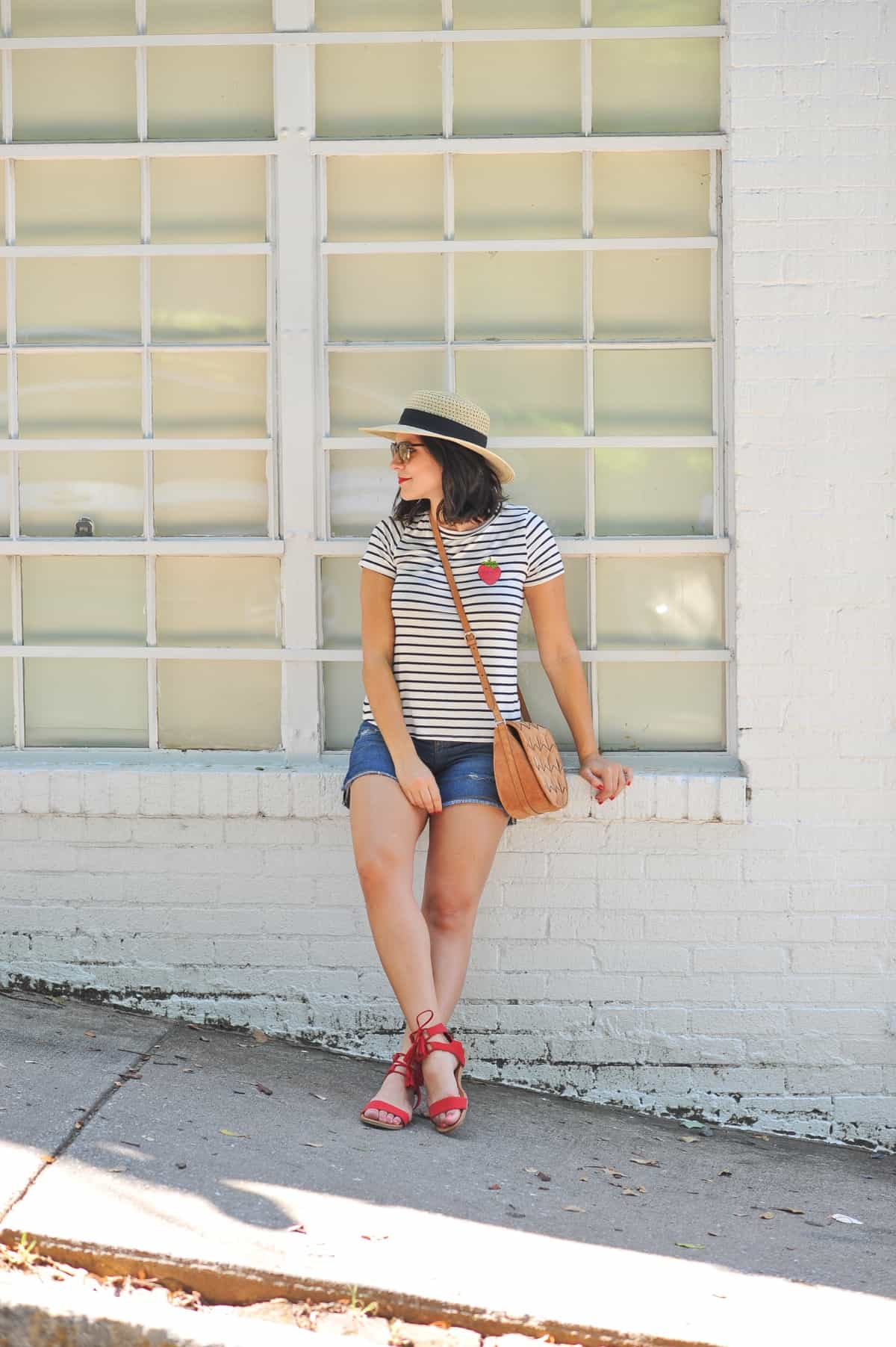 4th of july outfit ideas, striped tee outfits - @mystylevita - 4