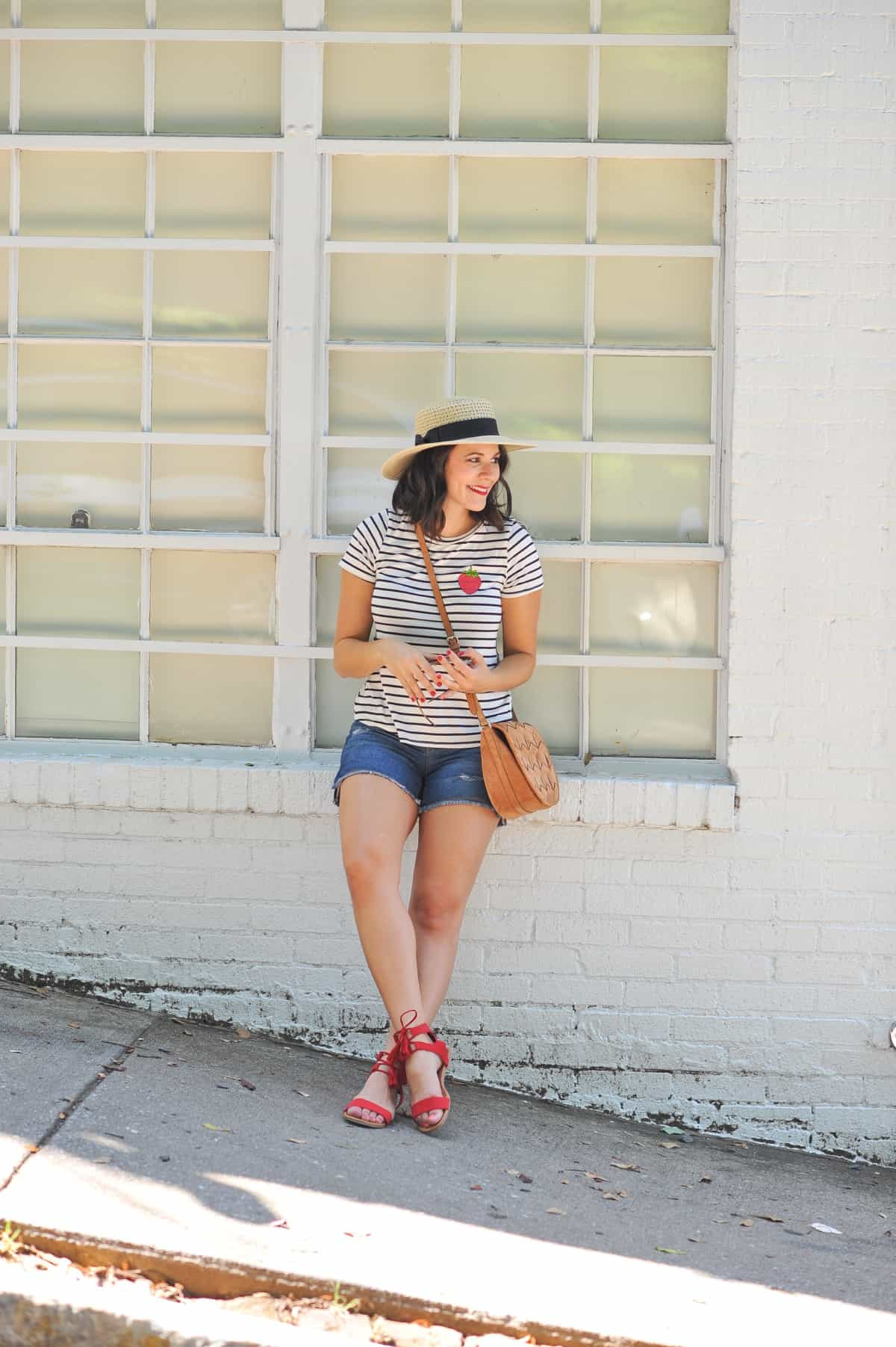 4th of july outfit ideas, striped tee outfits - @mystylevita - 5